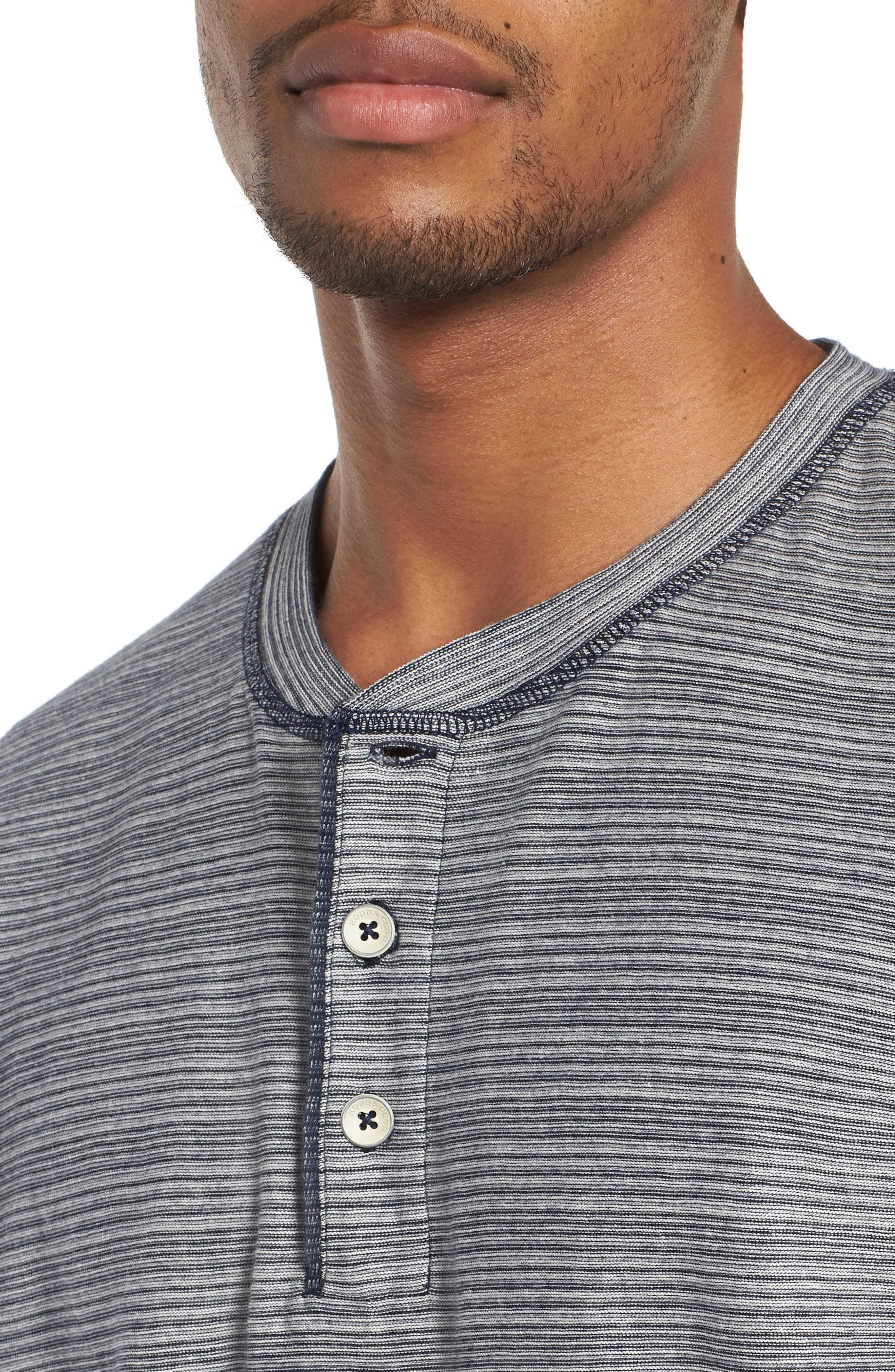 Slim Centre Island Henley,                             Alternate thumbnail 4, color,                             442