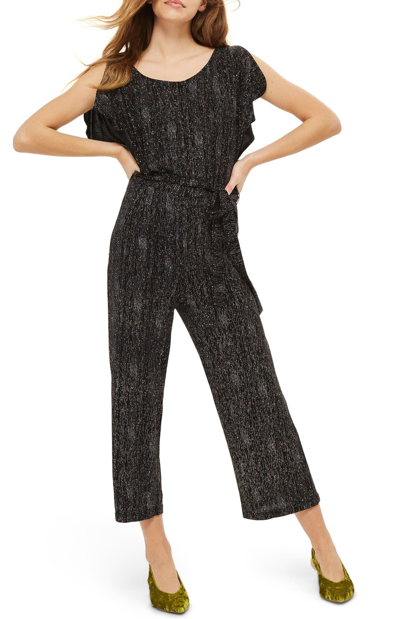 Rainbow Glitter Jumpsuit,                             Main thumbnail 1, color,                             001