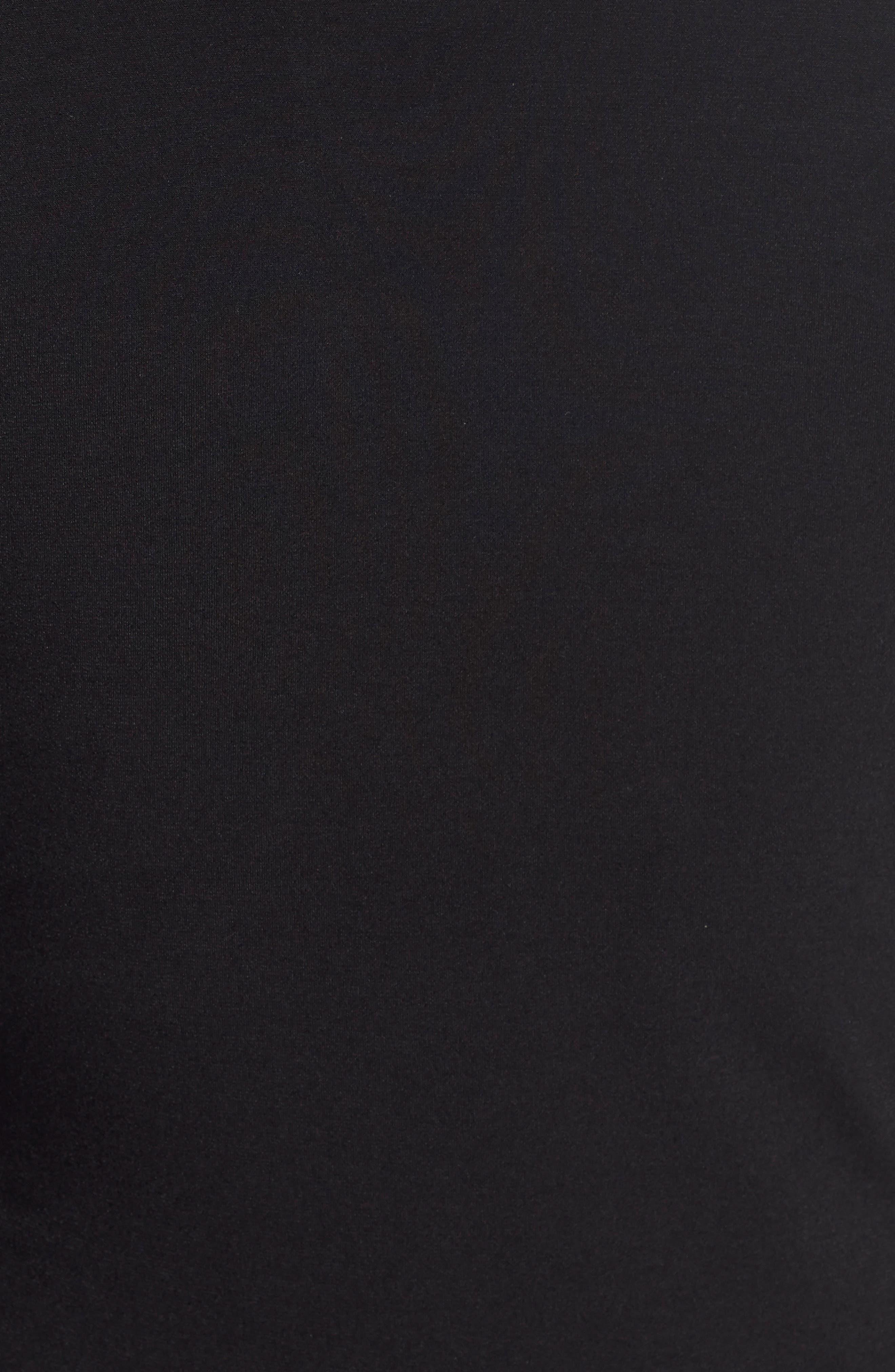 Faux Wrap Jersey Dress,                             Alternate thumbnail 4, color,                             BLACK