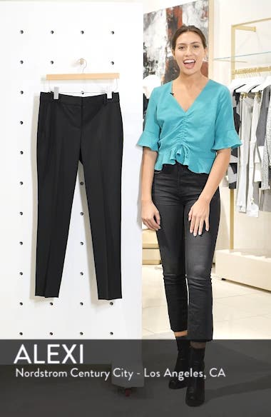 Straight Leg Stretch Wool Trousers, sales video thumbnail