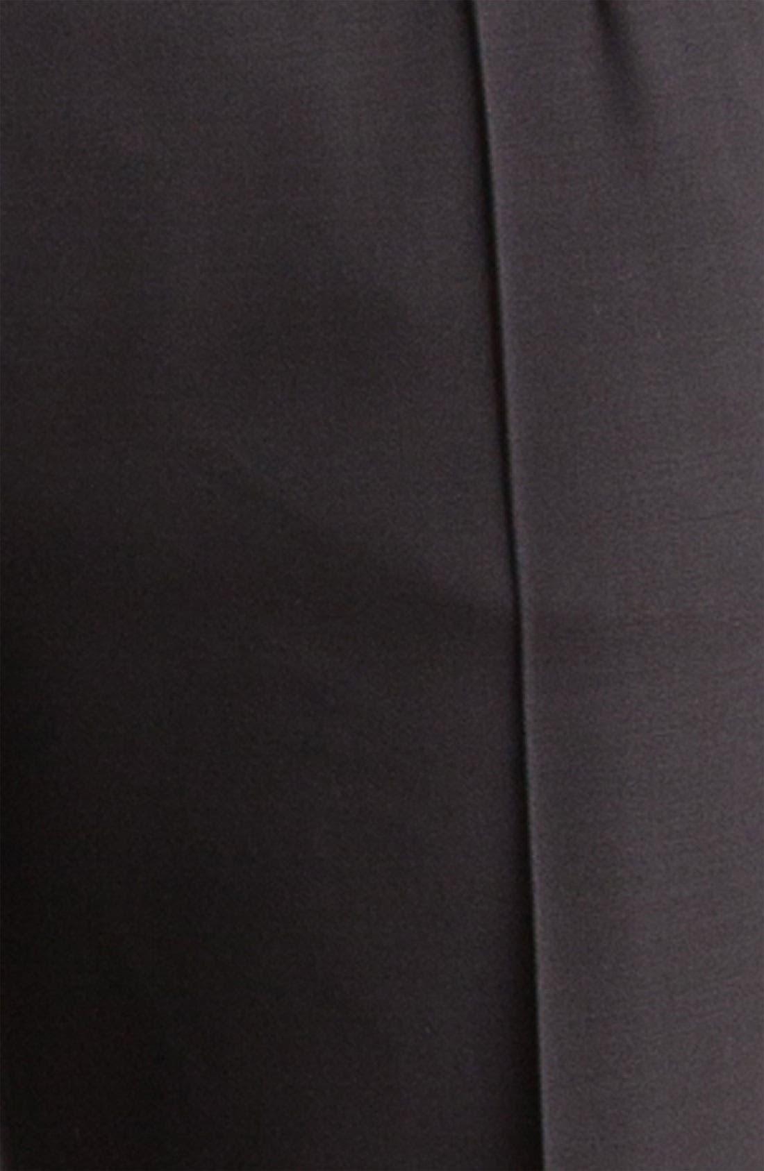 Straight Leg Stretch Wool Trousers,                             Alternate thumbnail 11, color,                             BLACK