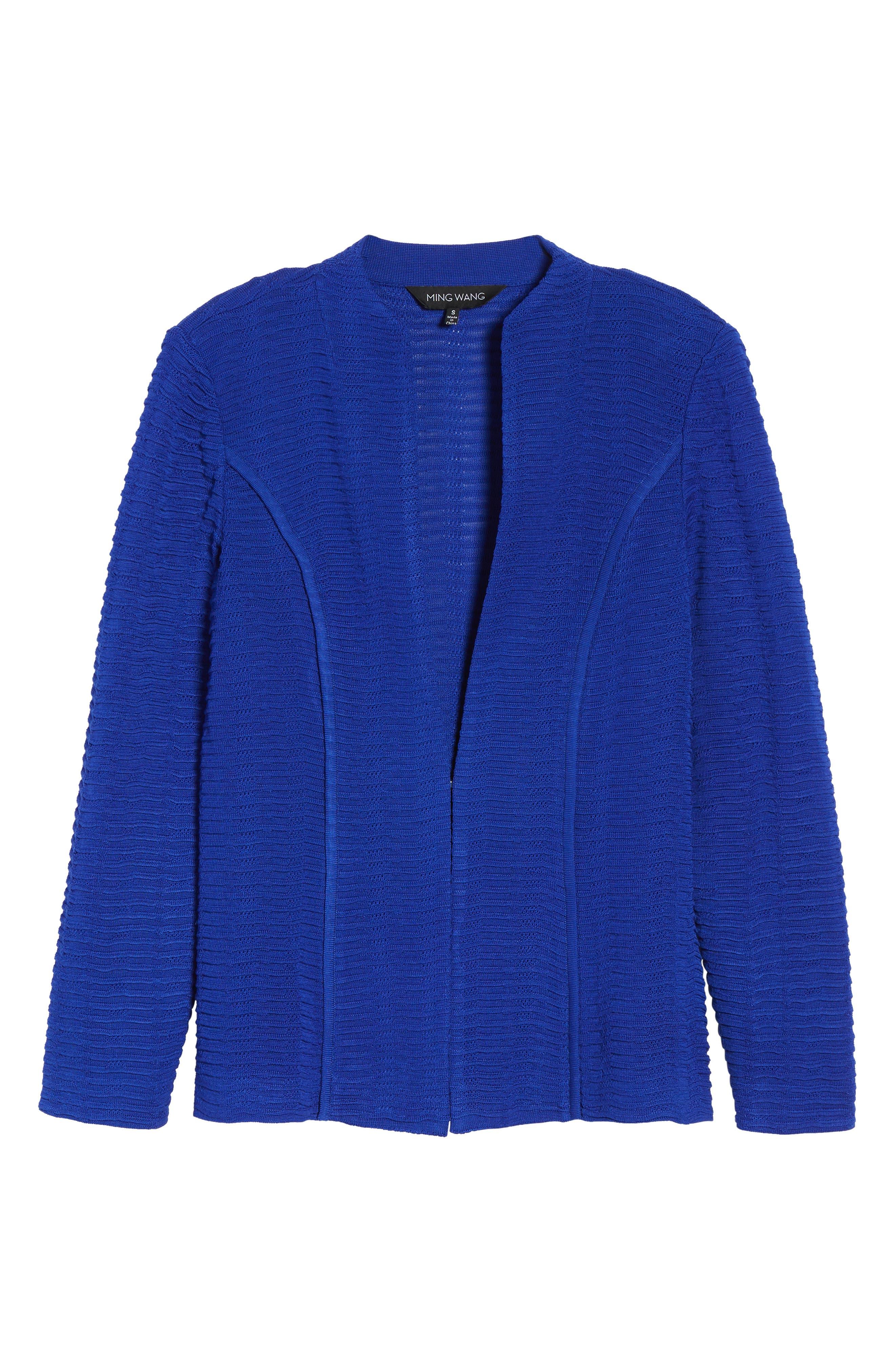 Ripple Knit Jacket,                             Alternate thumbnail 5, color,