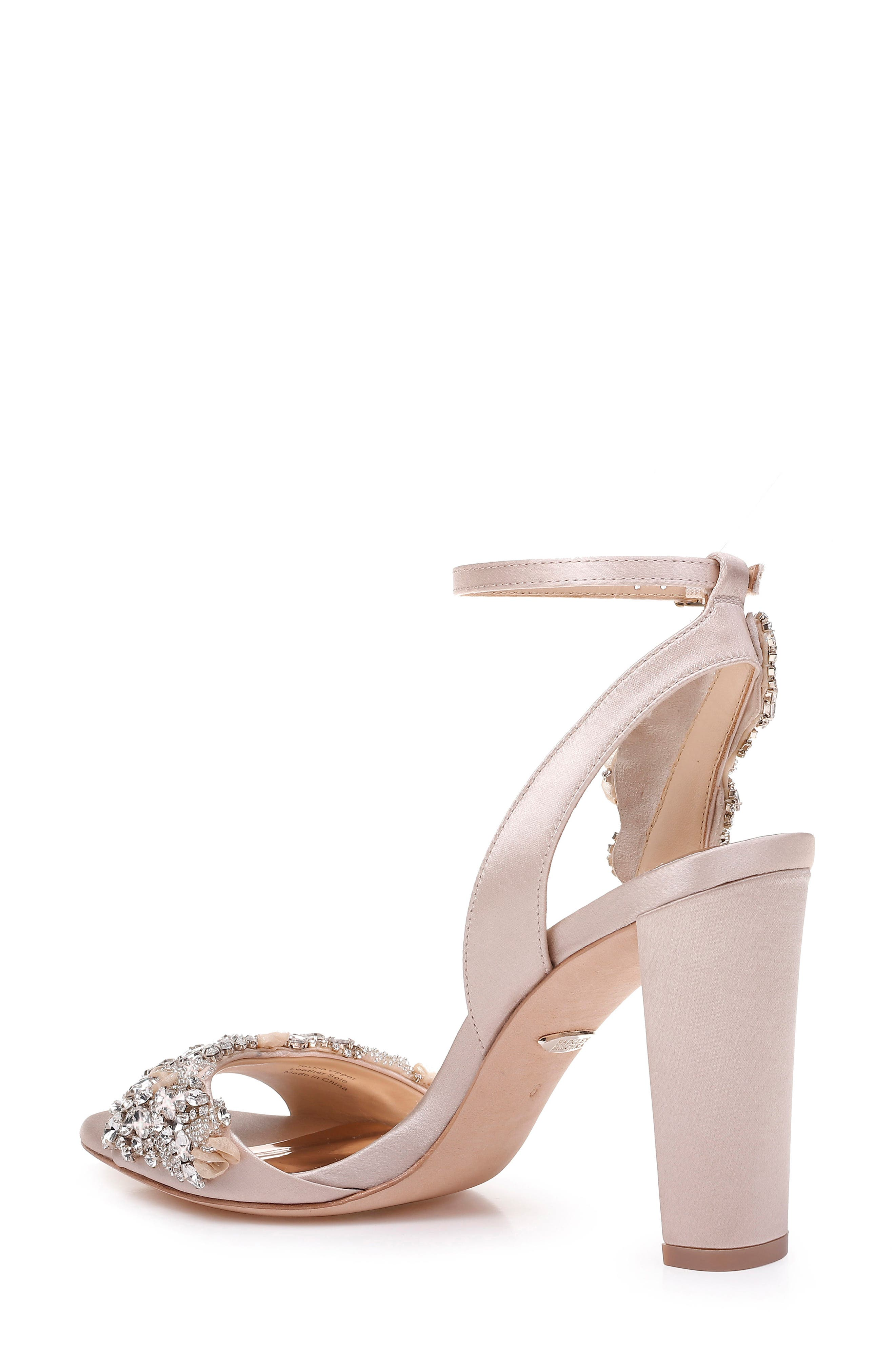 Badgley Mischka Libby Ankle Strap Sandal,                             Alternate thumbnail 2, color,                             NUDE SATIN