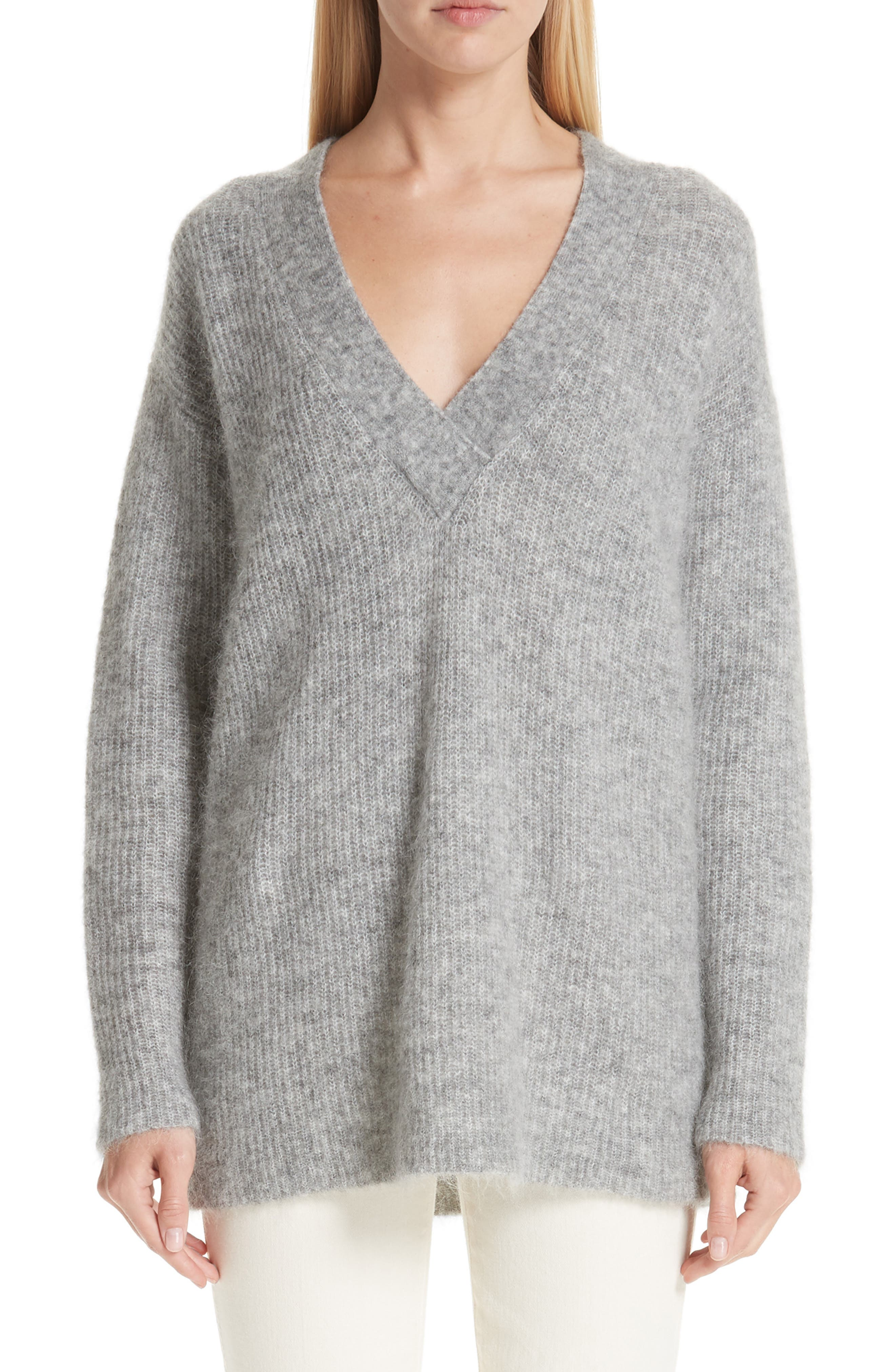 Soft Mohair Blend Knit Sweater,                             Main thumbnail 1, color,                             PALOMA MELANGE 921