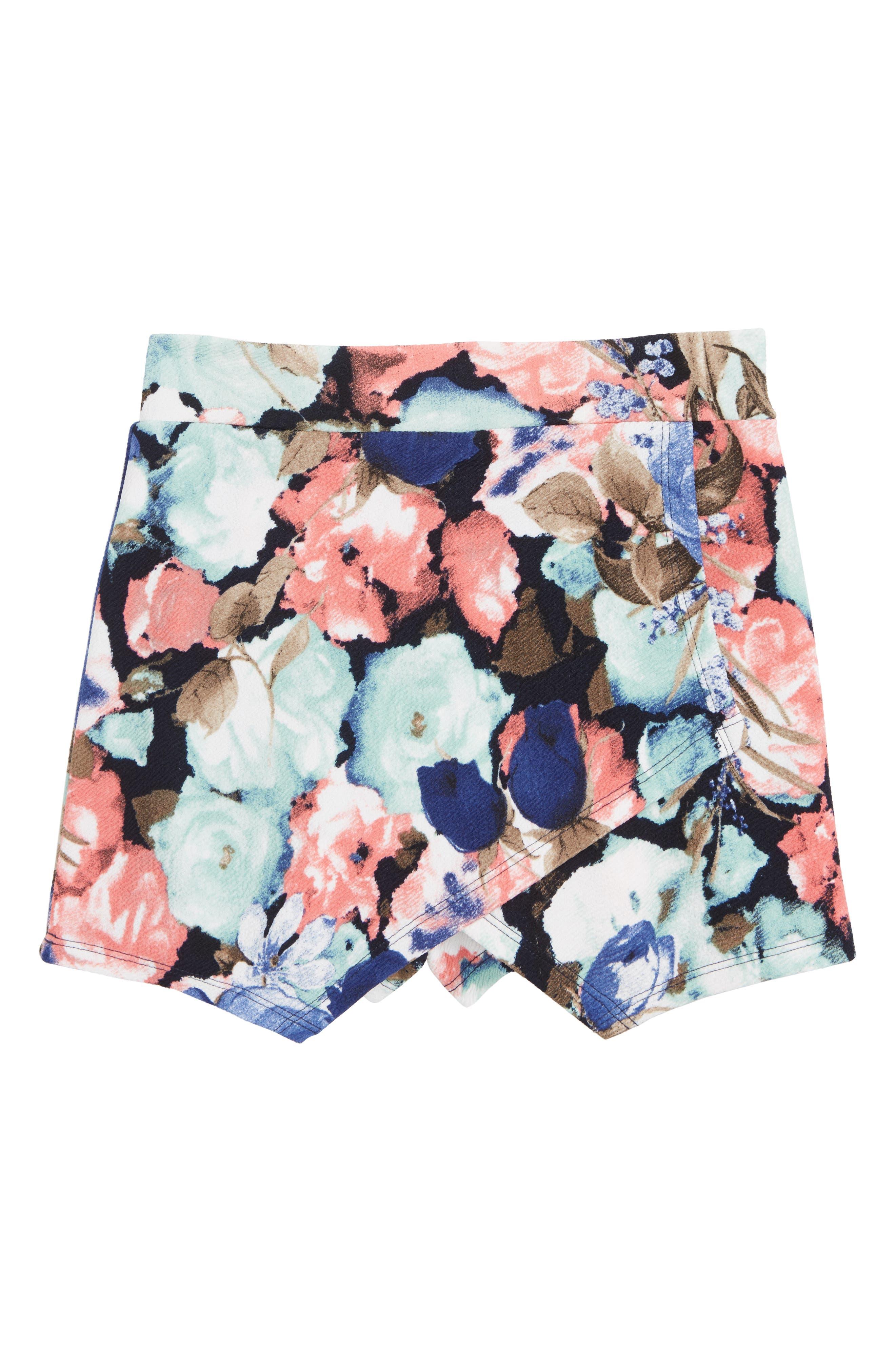 Textured Knit Skort,                             Main thumbnail 1, color,                             410