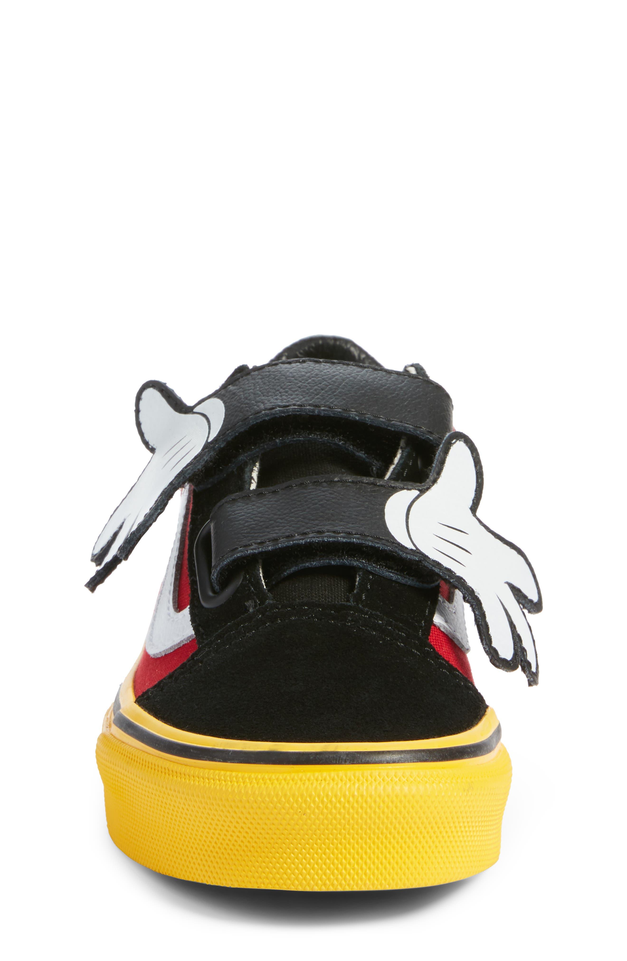 x Disney Mickey Mouse Old Skool V Sneaker,                             Alternate thumbnail 4, color,                             001