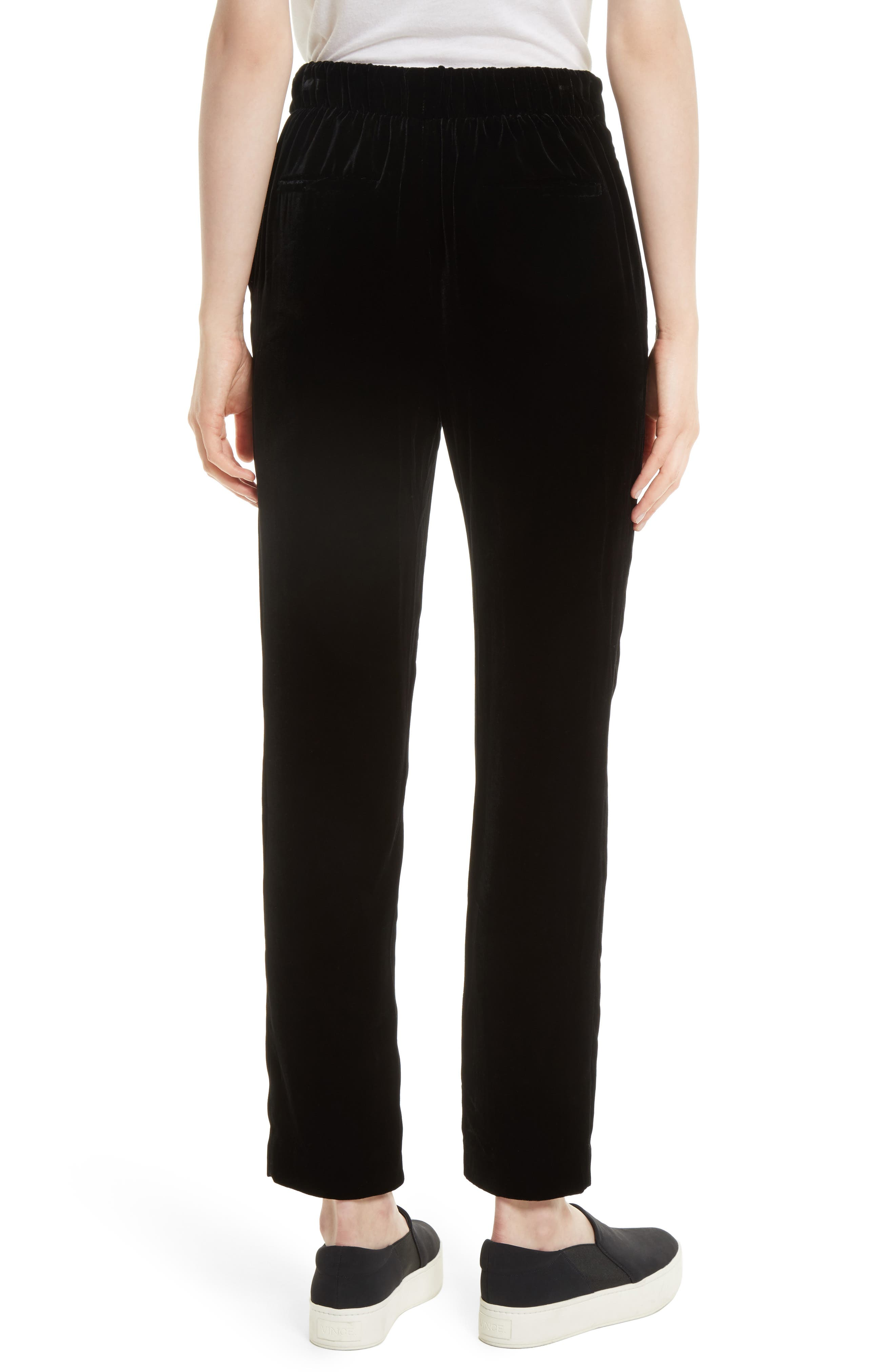 Single Pleat Pull-On Trousers,                             Alternate thumbnail 2, color,                             001