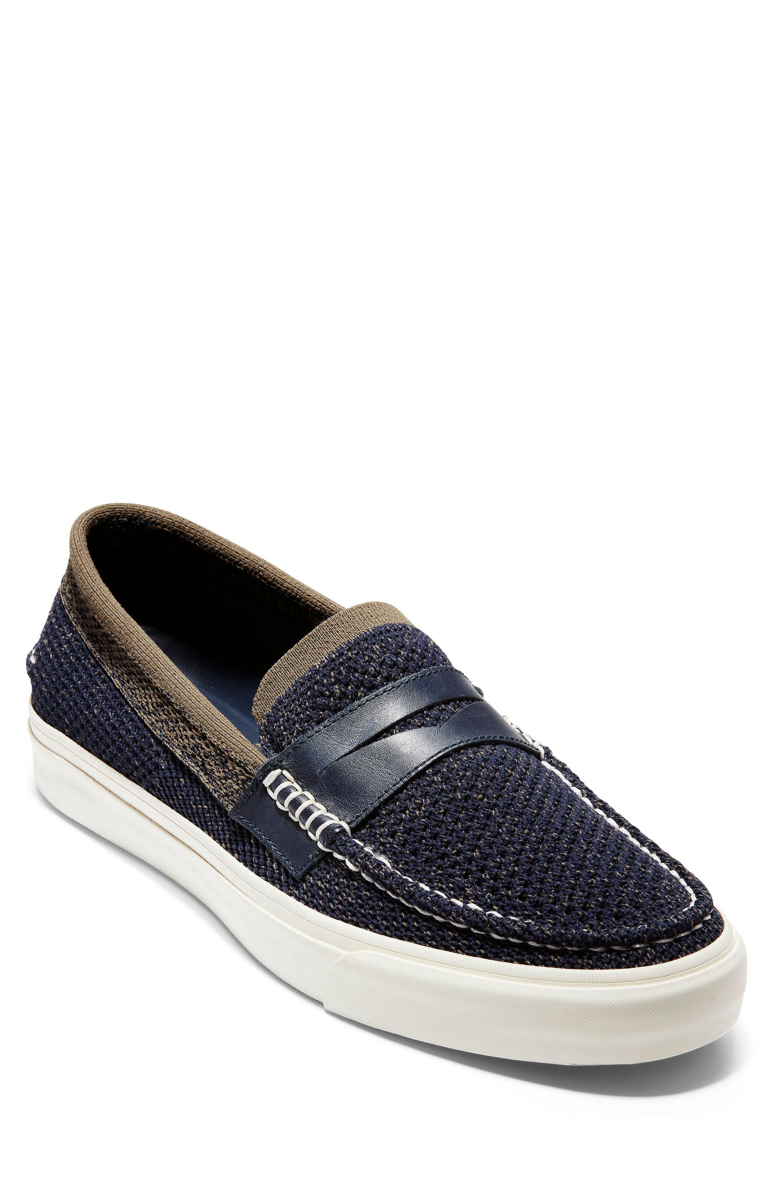 Pinch Stitch LX Stitchlite<sup>™</sup> Penny Loafer,                         Main,                         color, NAVY/ MOREL