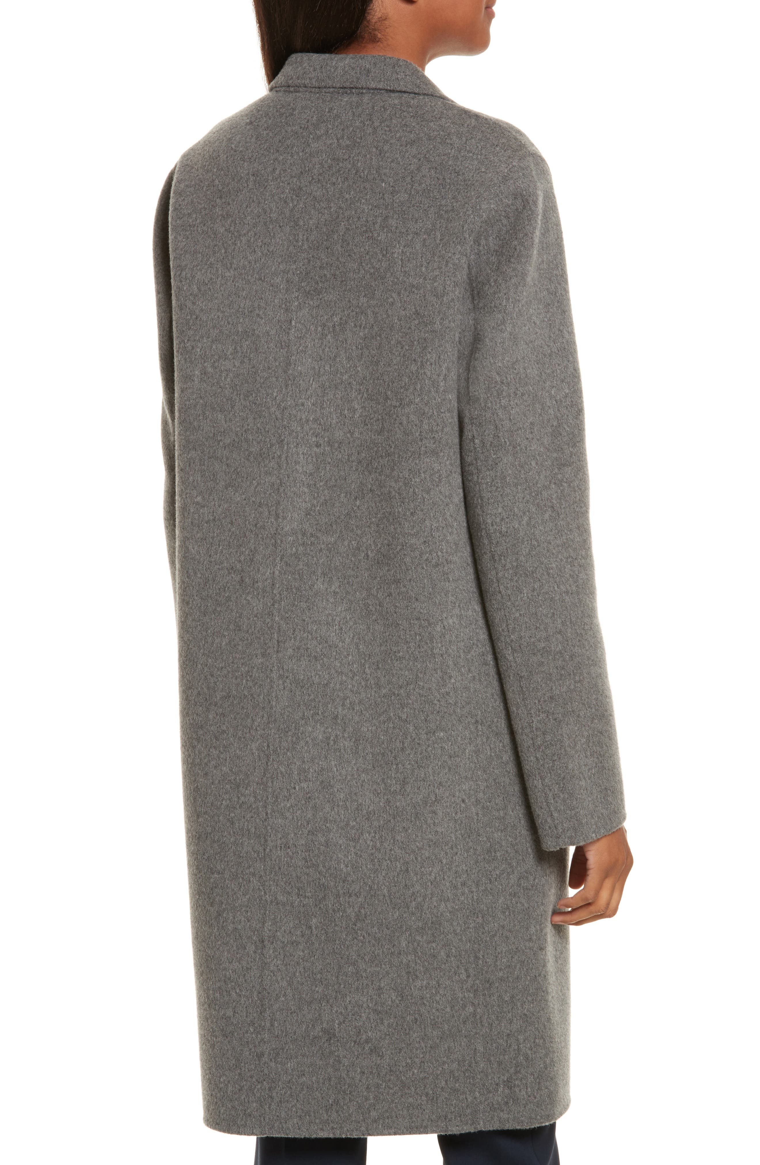 New Divide Wool & Cashmere Coat,                             Alternate thumbnail 2, color,                             021