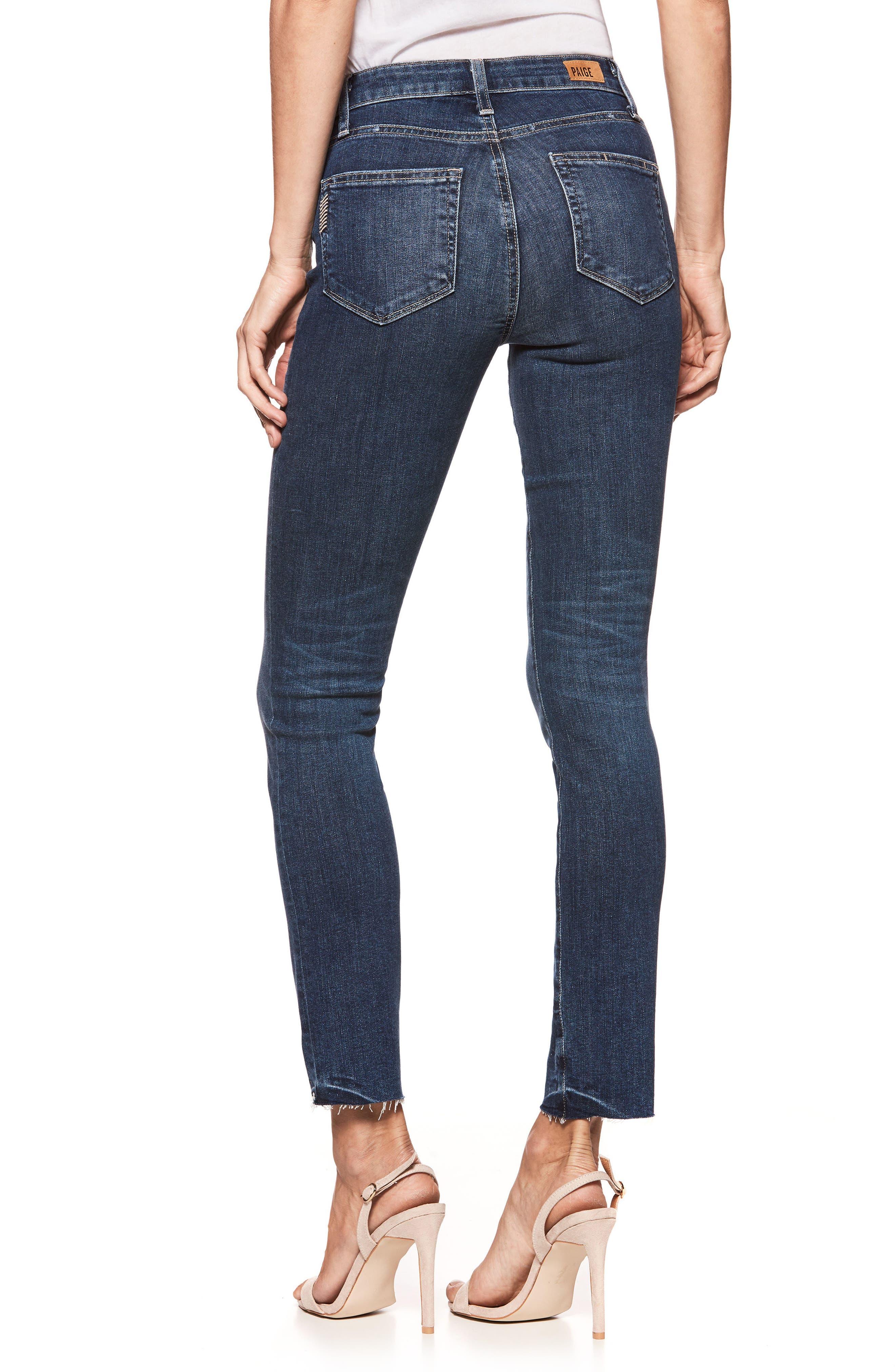 Transcend Vintage - Hoxton High Waist Ankle Peg Jeans,                             Alternate thumbnail 2, color,                             400