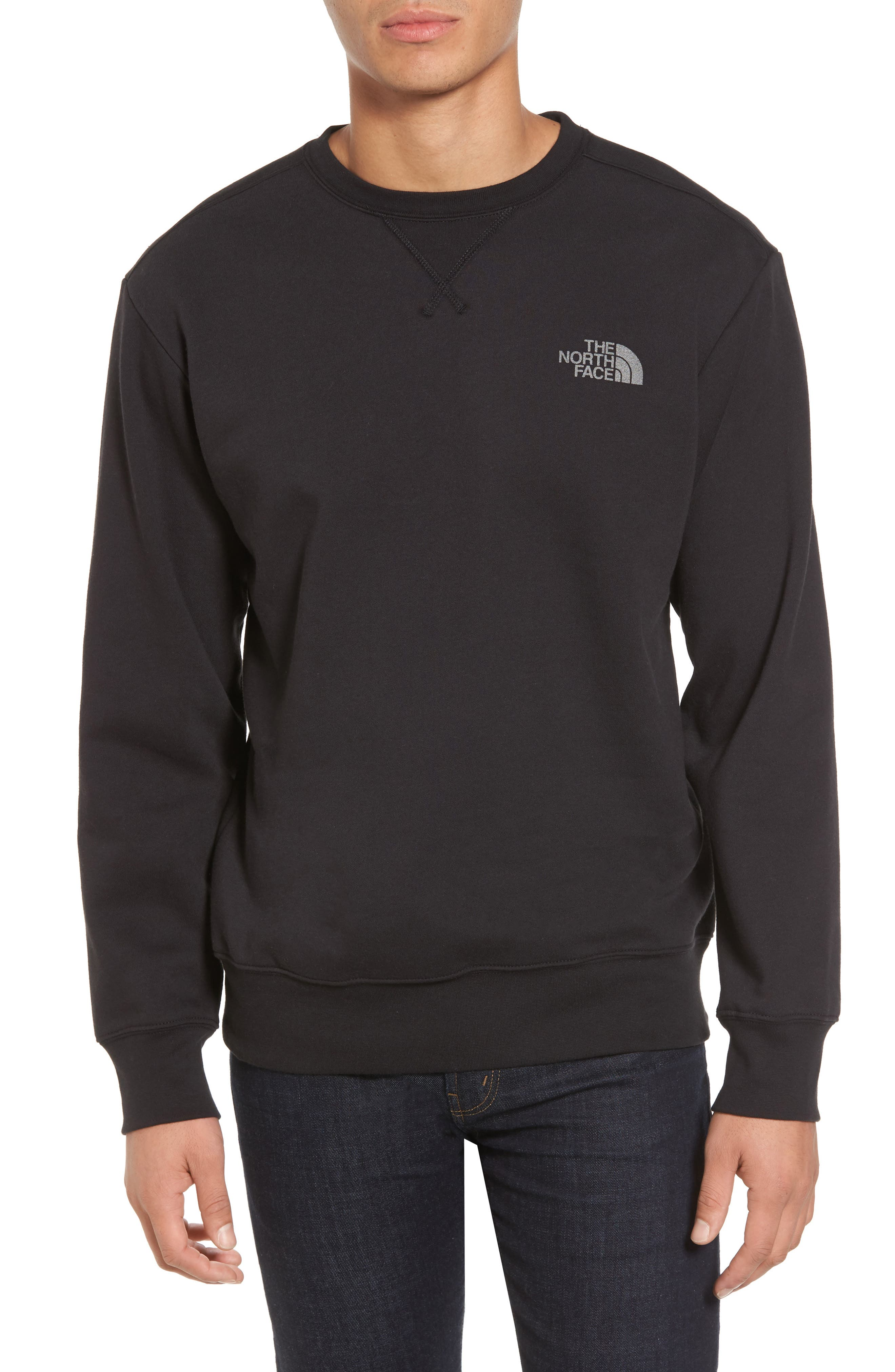'Half Dome' Crewneck Sweatshirt,                             Main thumbnail 1, color,                             002