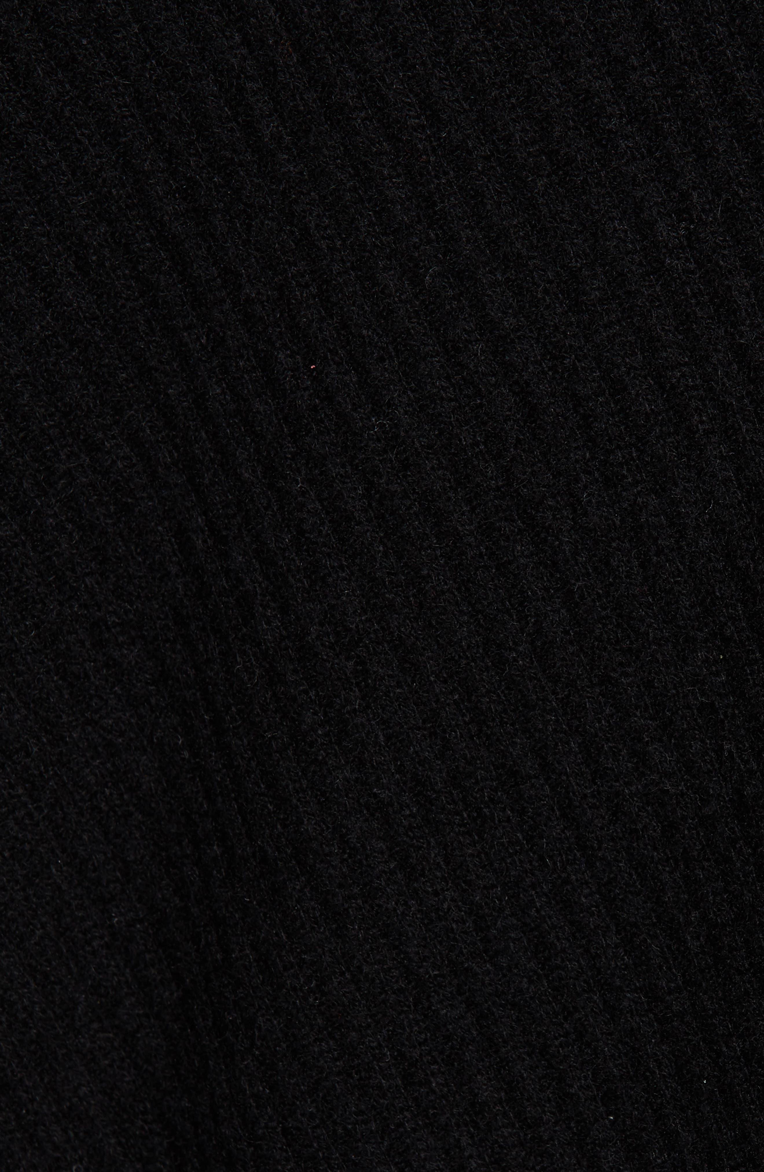 Chevron Cashmere Cardigan,                             Alternate thumbnail 6, color,                             BLACK