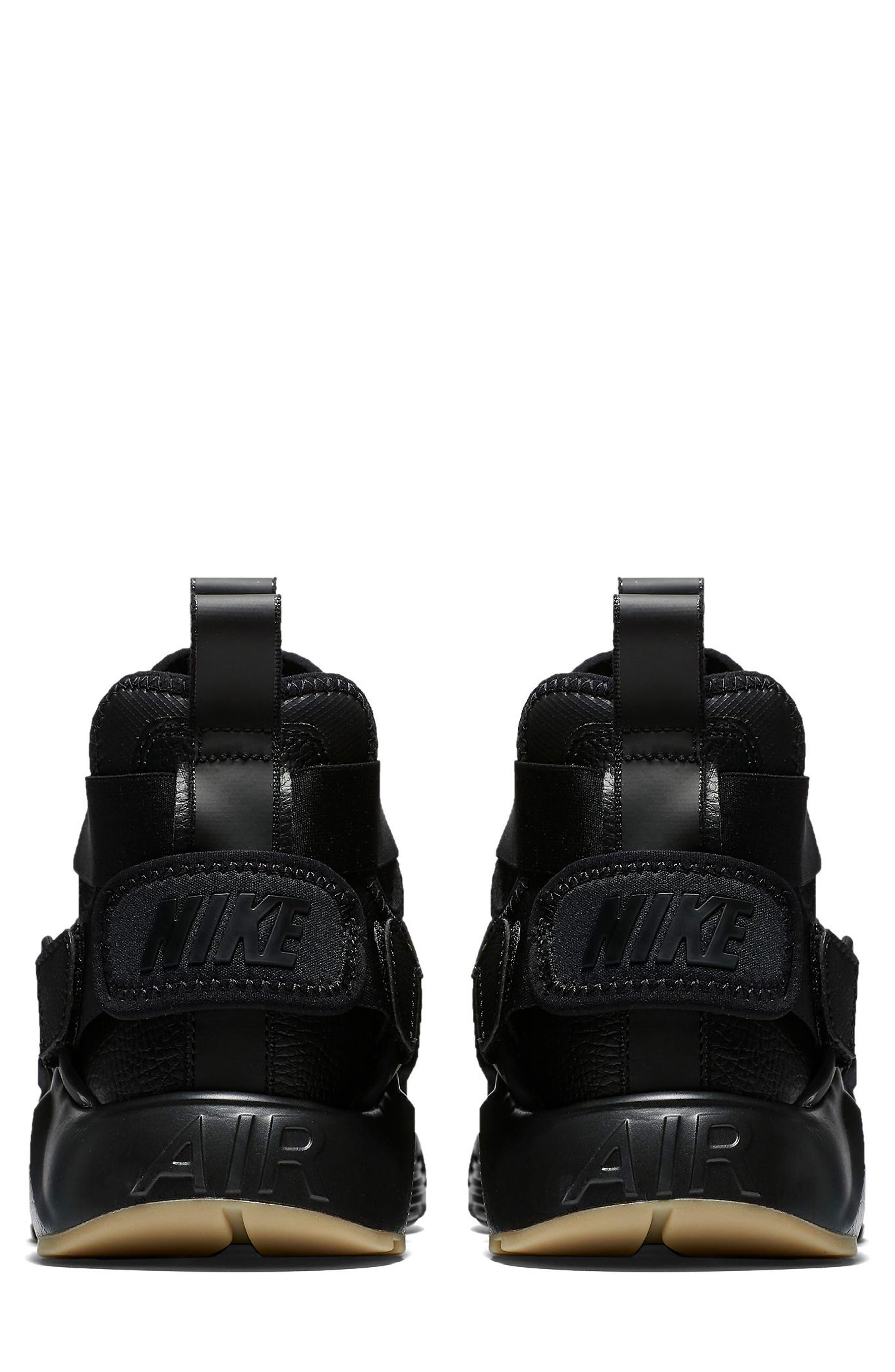 Air Huarache City Sneaker,                             Alternate thumbnail 2, color,                             BLACK/ BLACK/ DARK GREY