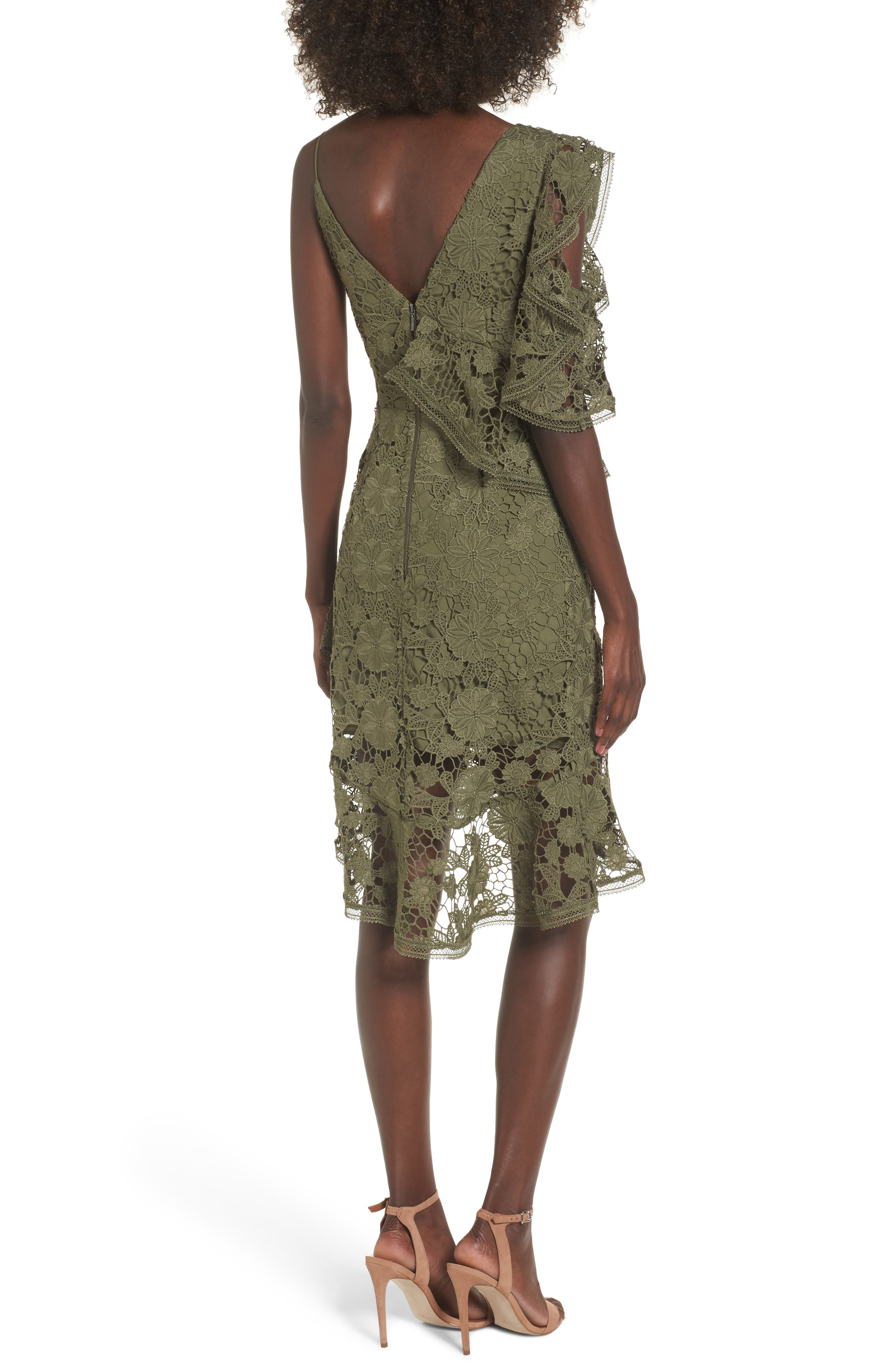 Frameless Lace Sheath Dress,                             Alternate thumbnail 2, color,                             300