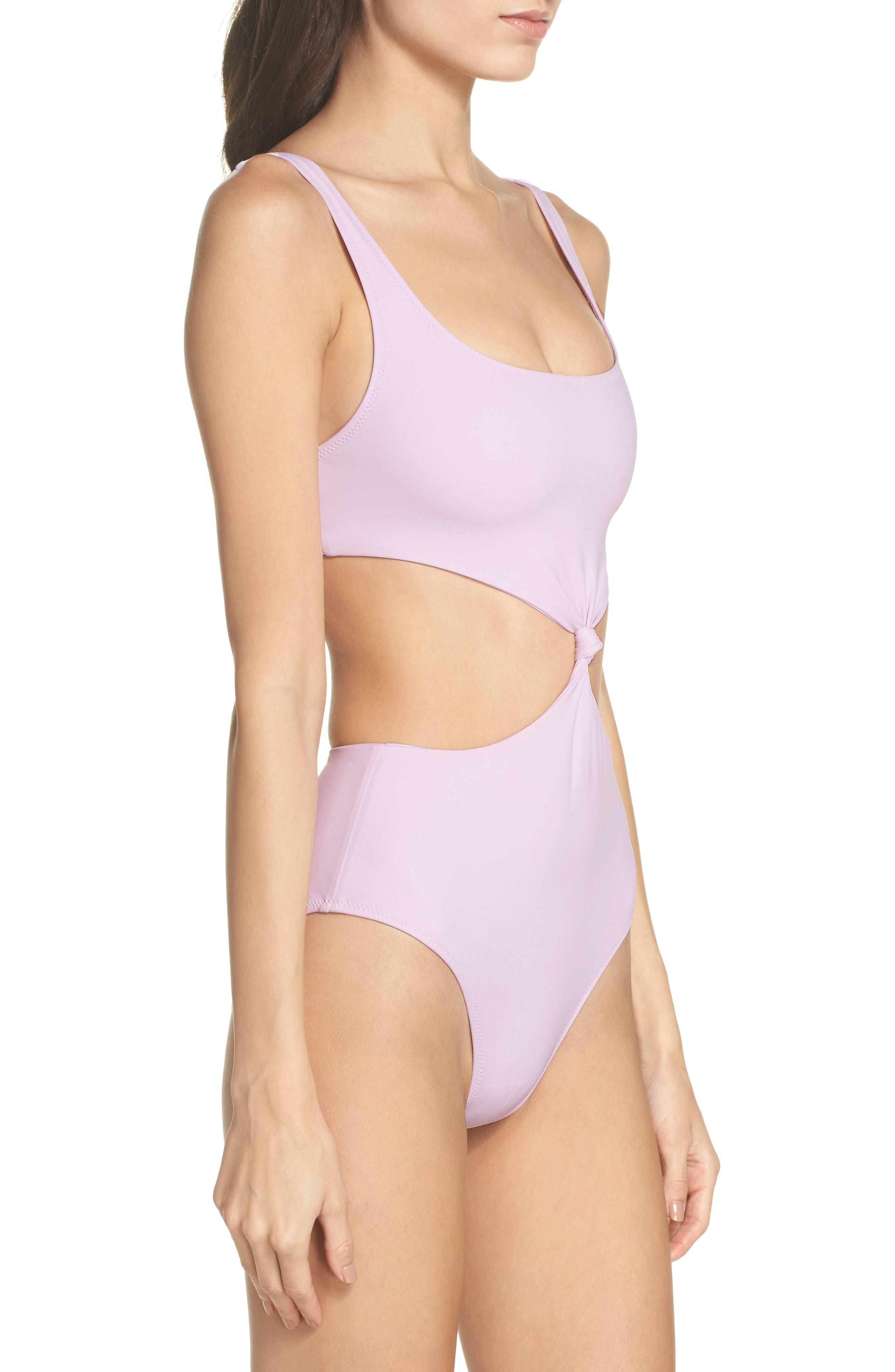 The Bailey One-Piece Swimsuit,                             Alternate thumbnail 3, color,                             PURPLE