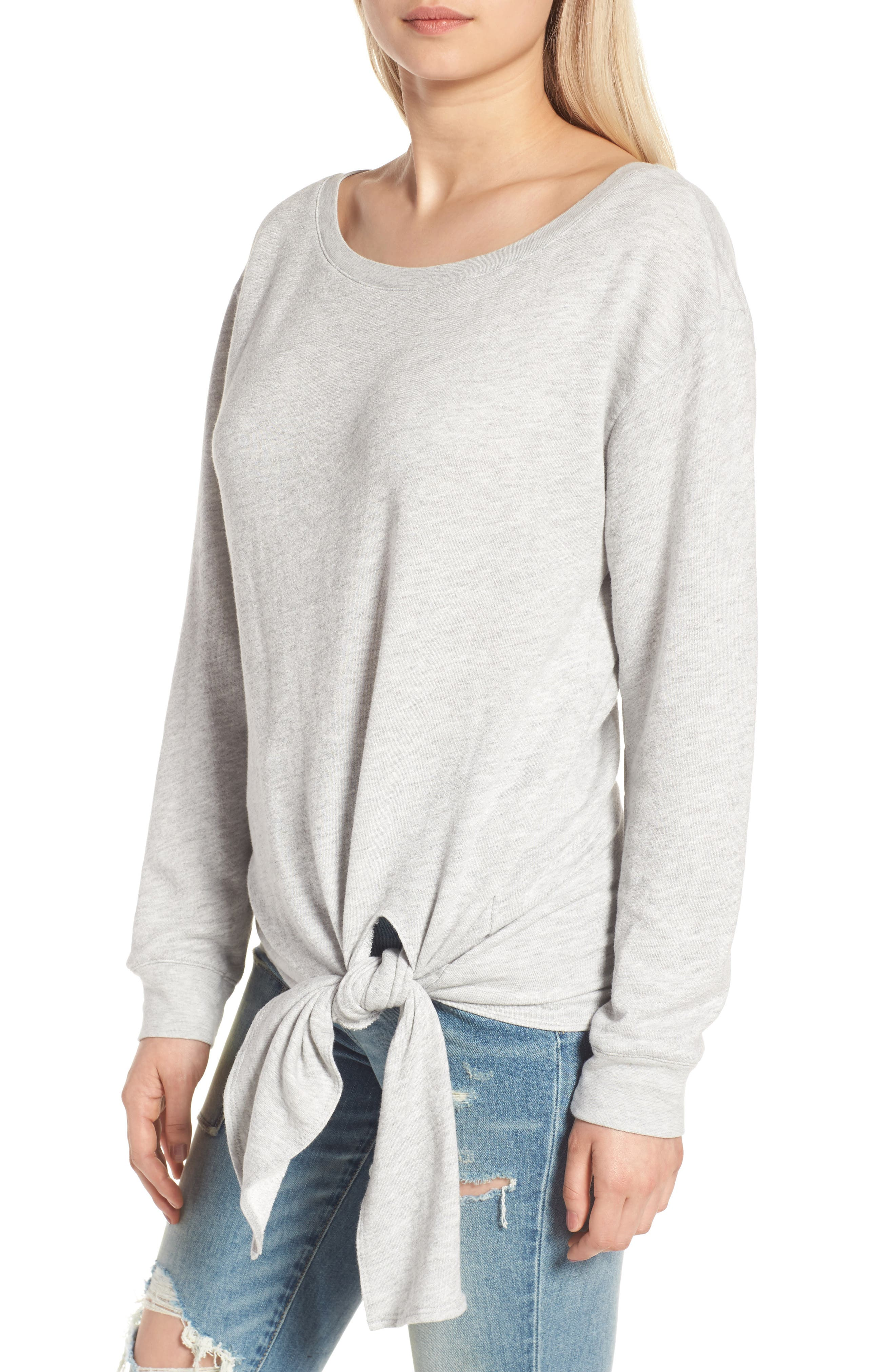 HINGE,                             Tie Front Pullover,                             Alternate thumbnail 4, color,                             020