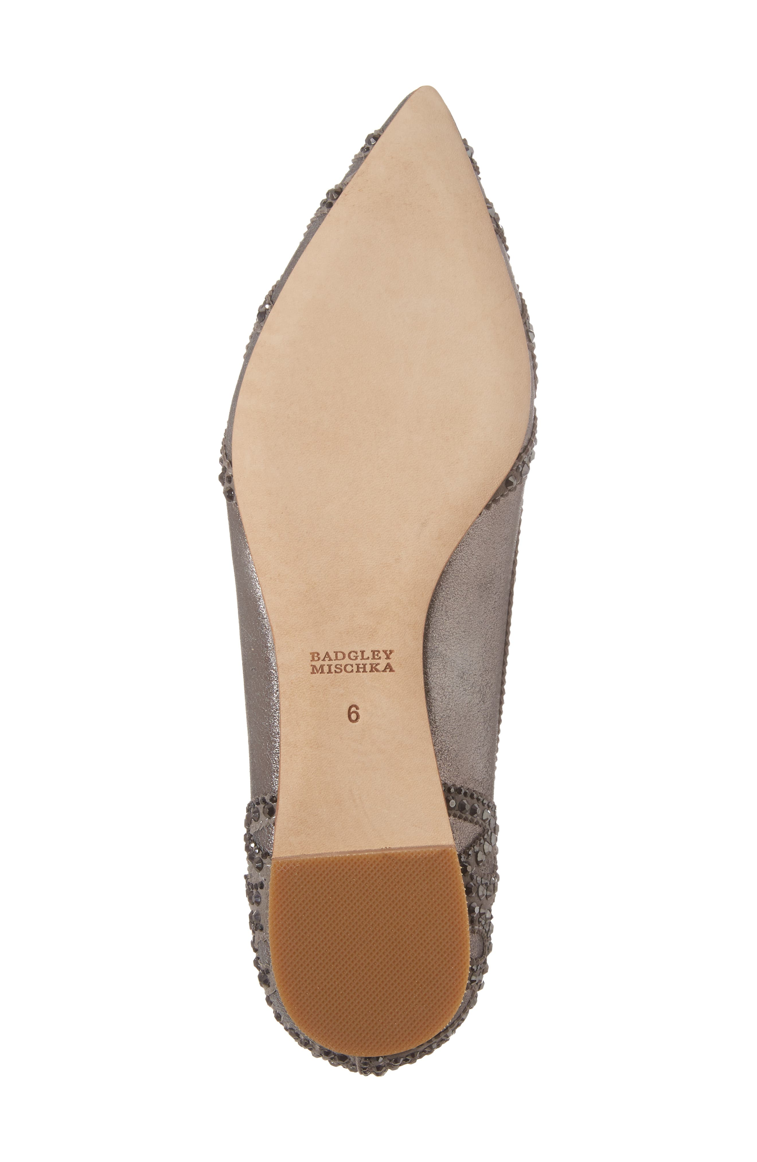 Gigi Crystal Pointy Toe Flat,                             Alternate thumbnail 28, color,