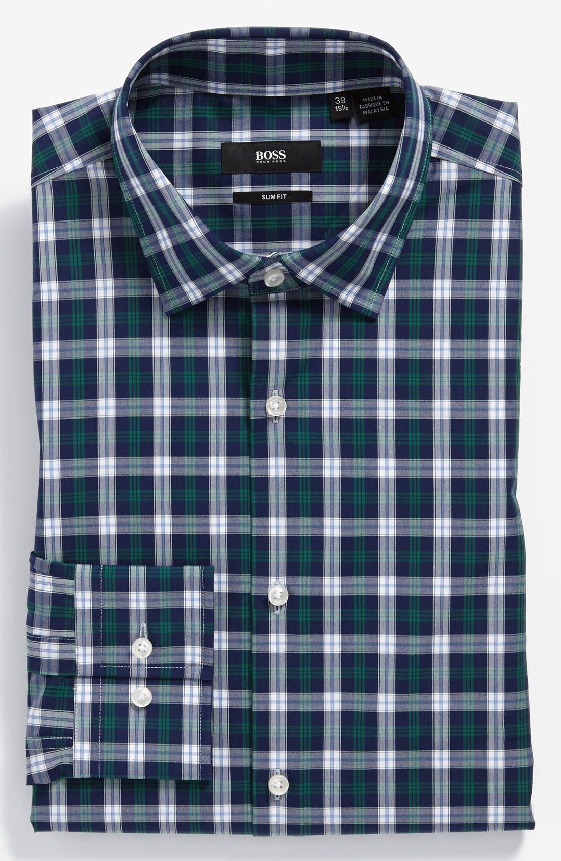 BOSS HUGO BOSS 'Jenno' Slim Fit Dress Shirt, Main, color, 312