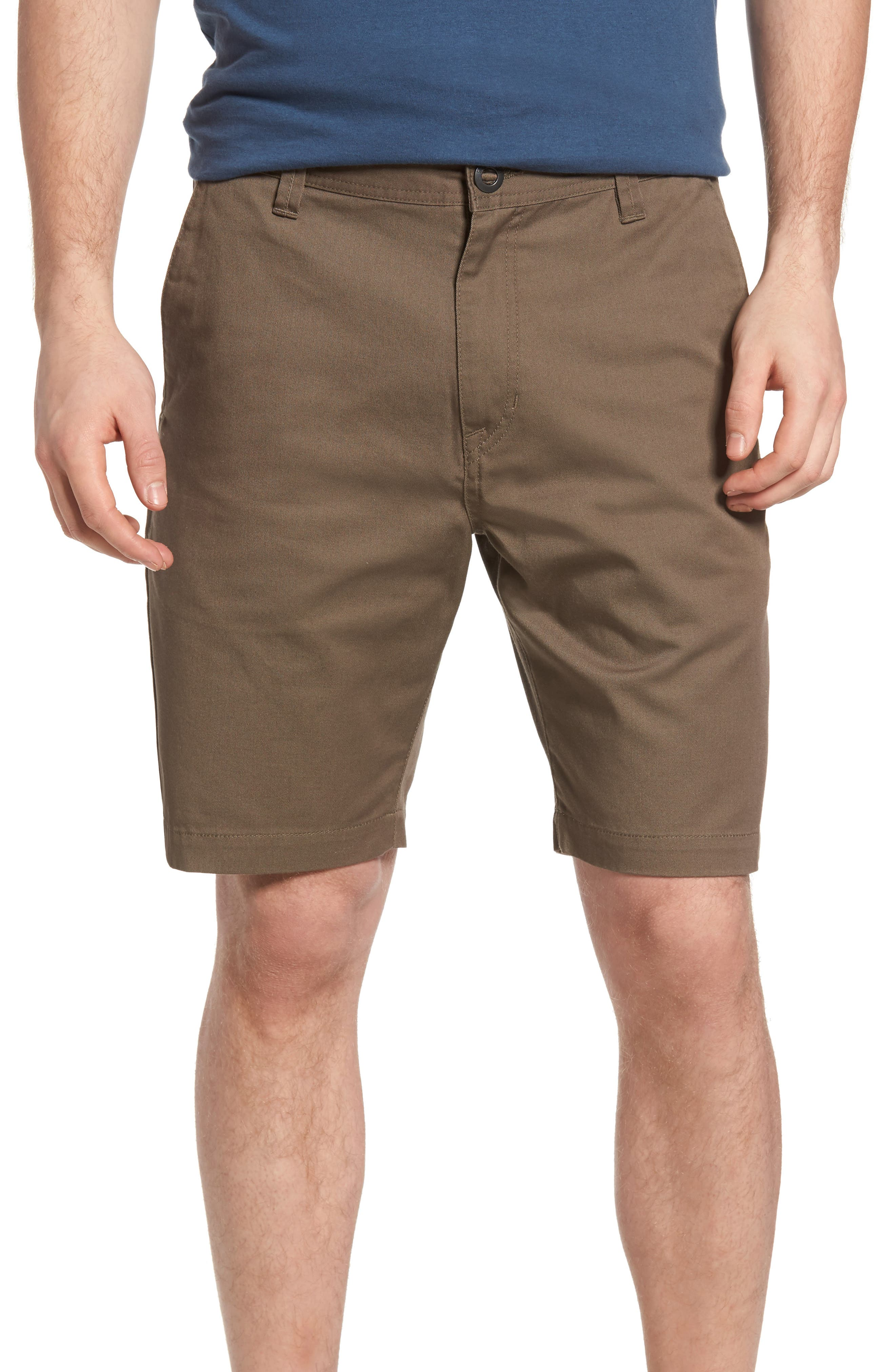 Modern Chino Shorts,                         Main,                         color, MUSHROOM