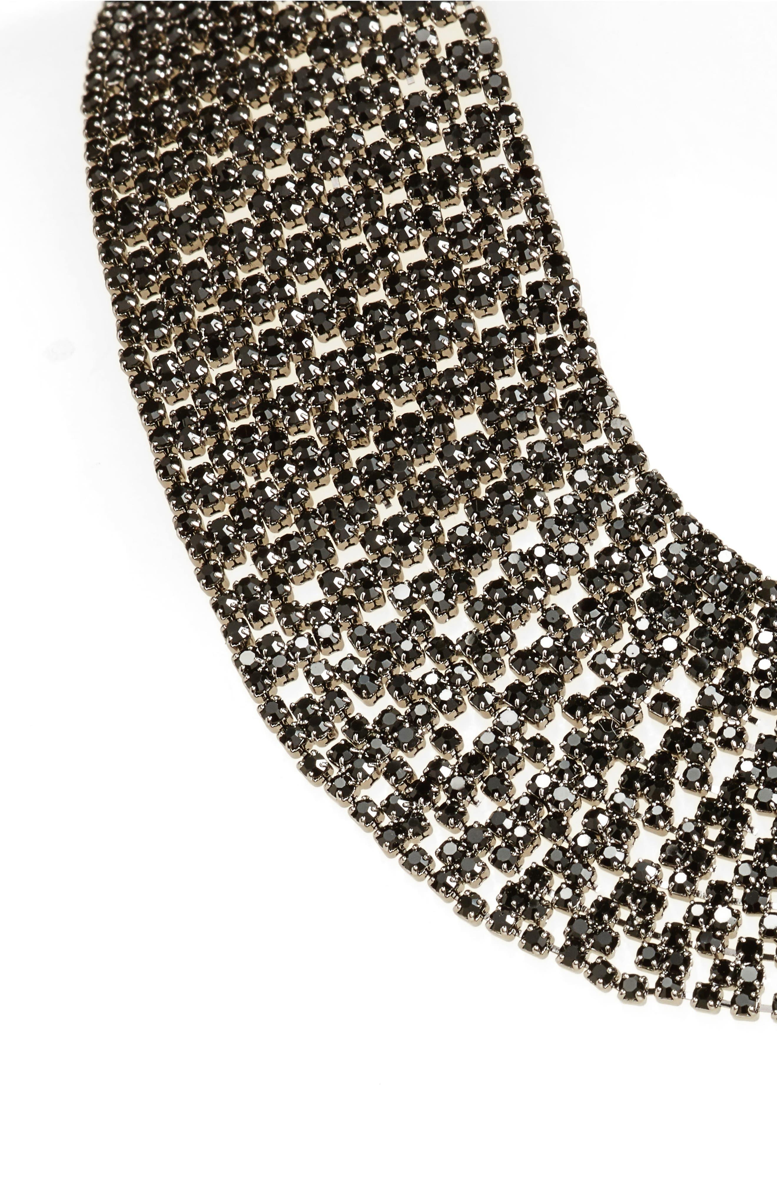 Crystal Collar Necklace,                         Main,                         color, 001