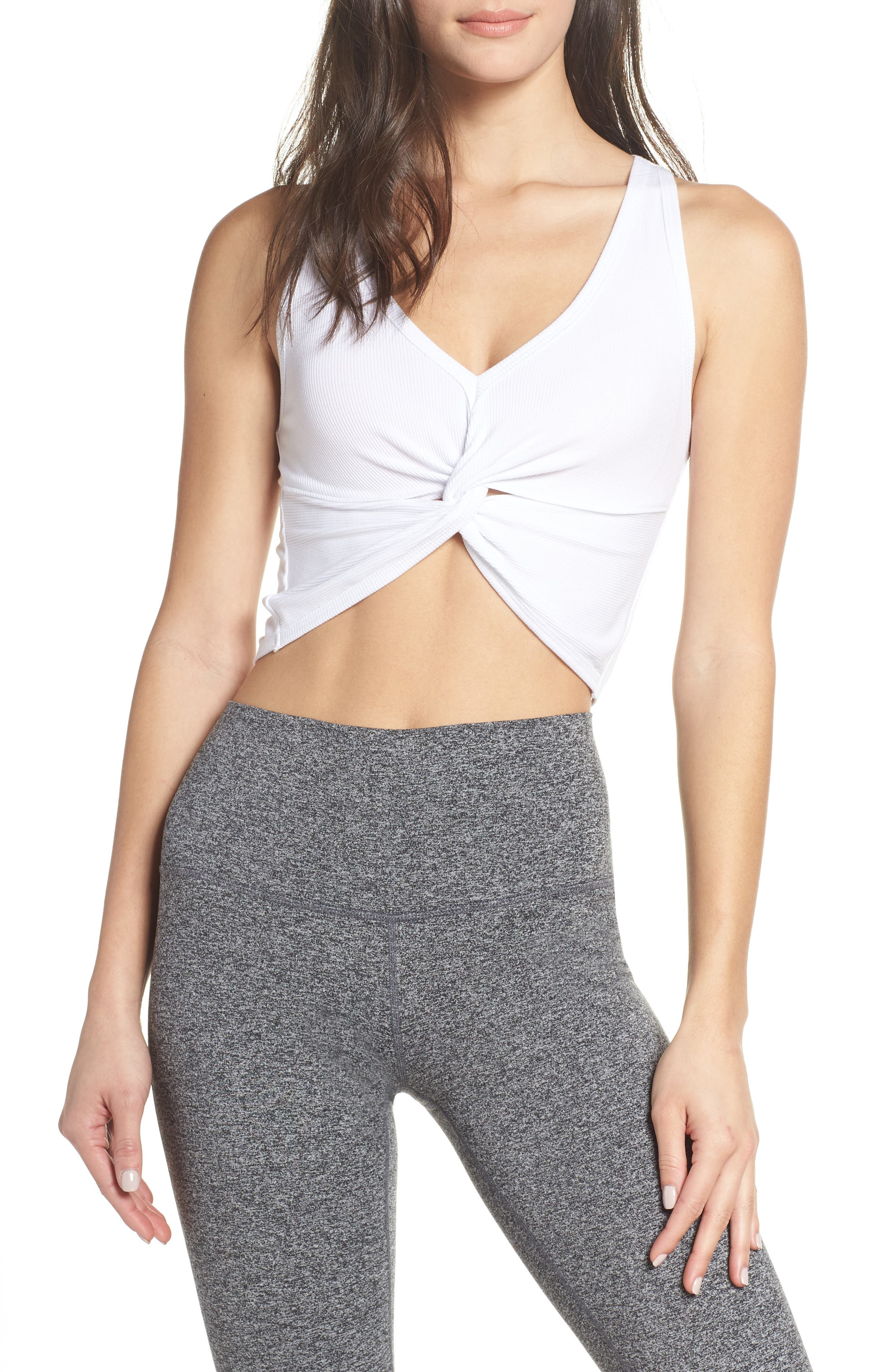 Free People Fp Movement New Moon Crop Top, White