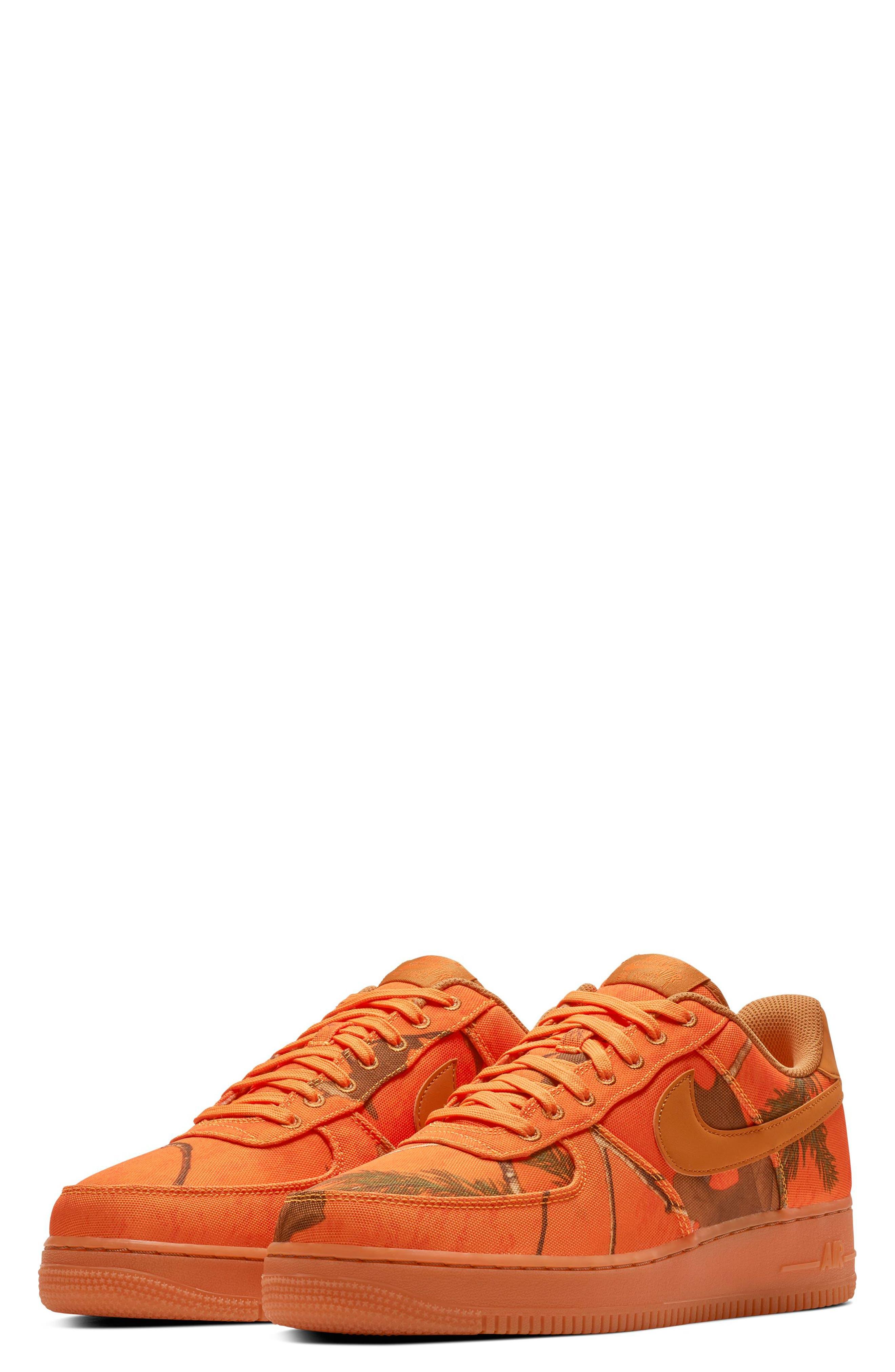 NIKE,                             Air Force 1 '07 LV8 3 Sneaker,                             Main thumbnail 1, color,                             ORANGE BLAZE/ WHITE/ BROWN