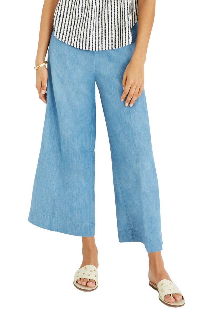 07ee841487 Madewell Huston Chambray Pull-On Crop Pants