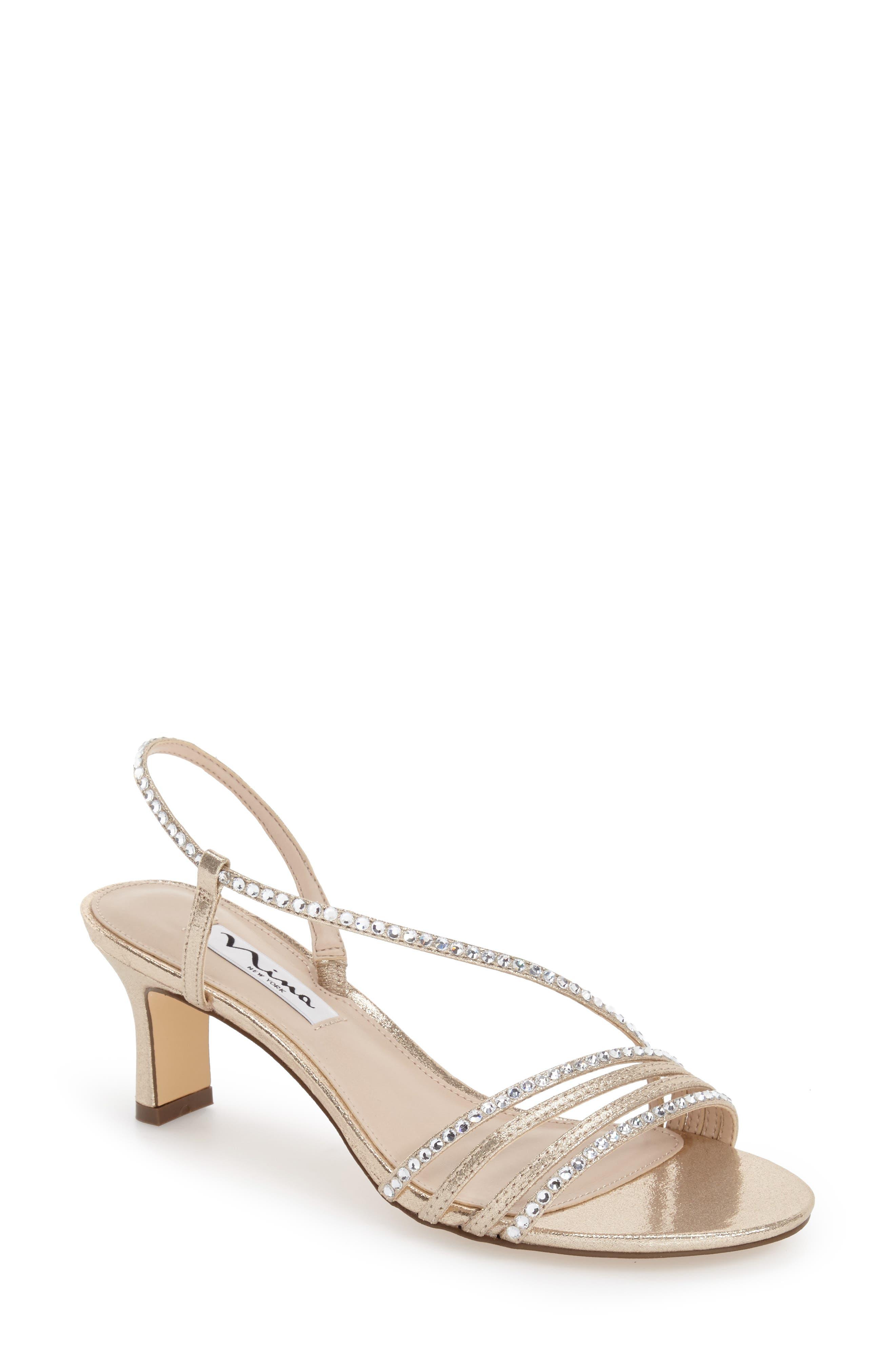 Womens Nina Gerri Embellished Slingback Sandal, Size 8 M - Blue