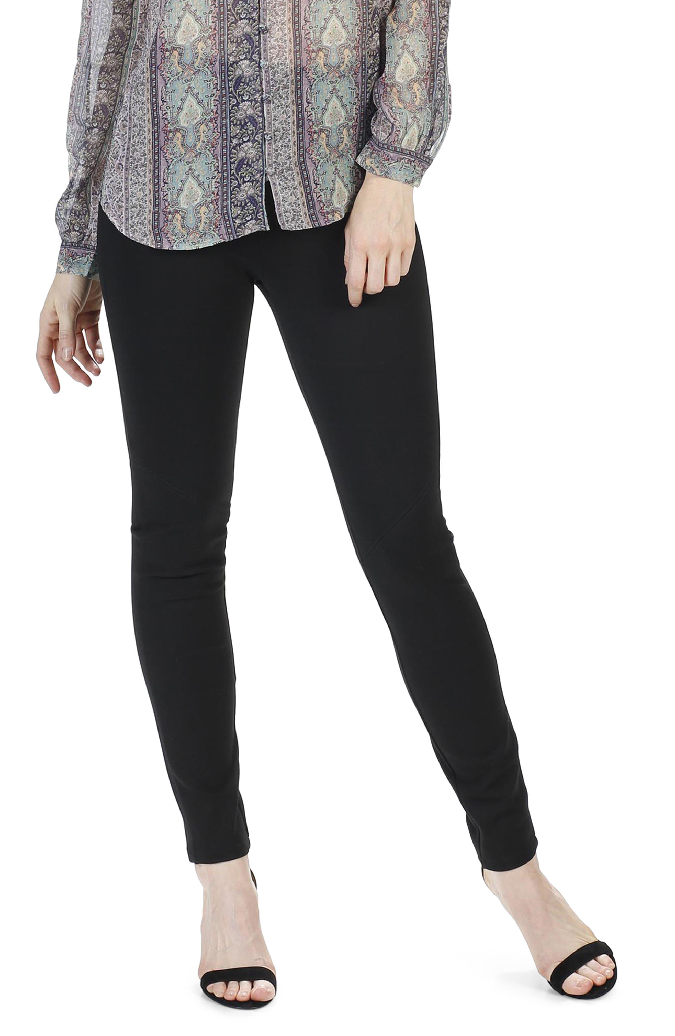 Myla High Waist Skinny Ponte Pants,                         Main,                         color, 001