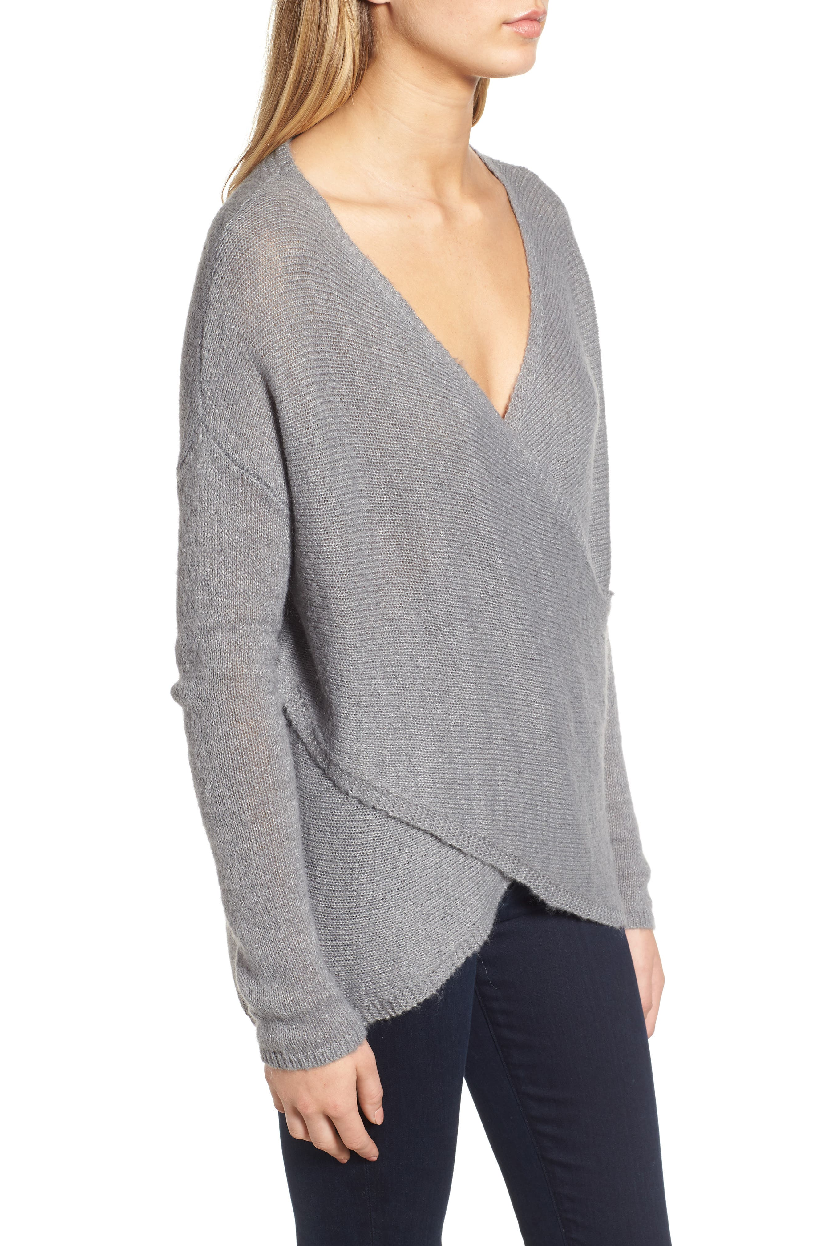 Cross Front Sweater,                             Alternate thumbnail 3, color,                             030