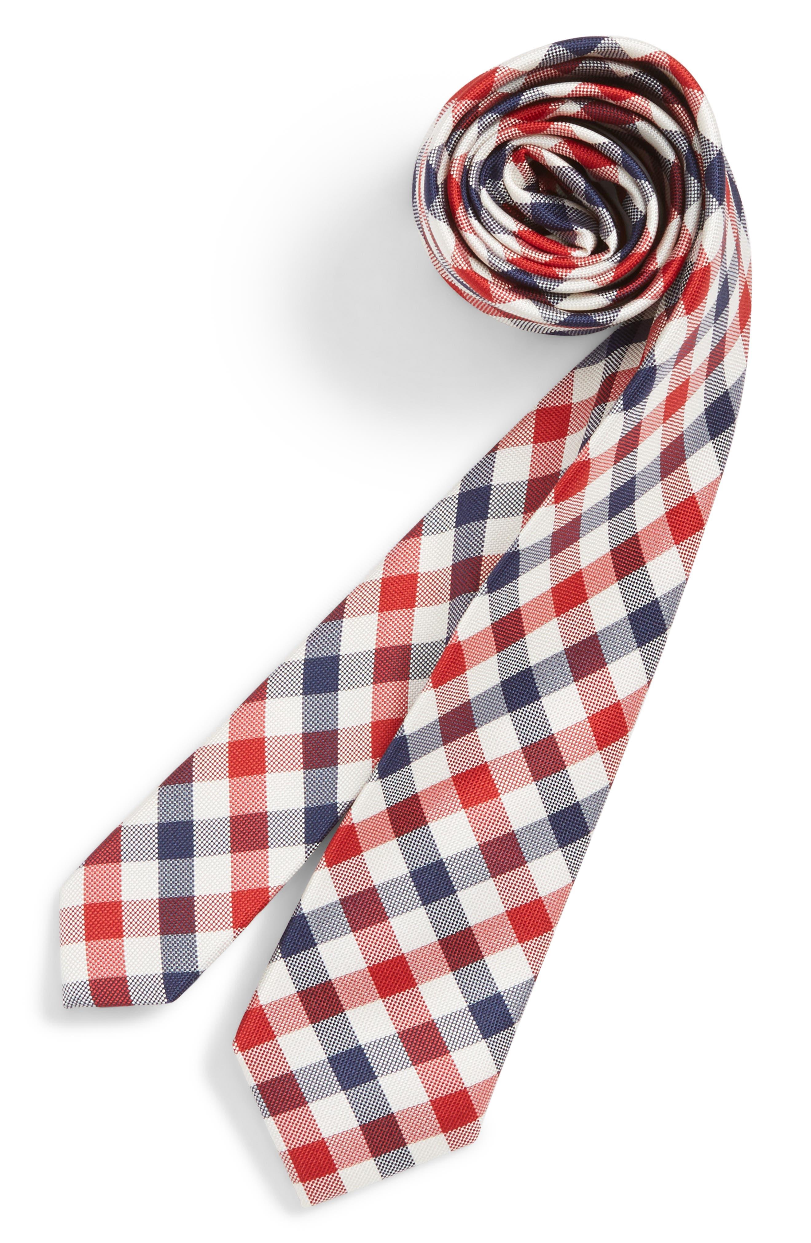 Natte Weave Silk Tie,                         Main,                         color, 411