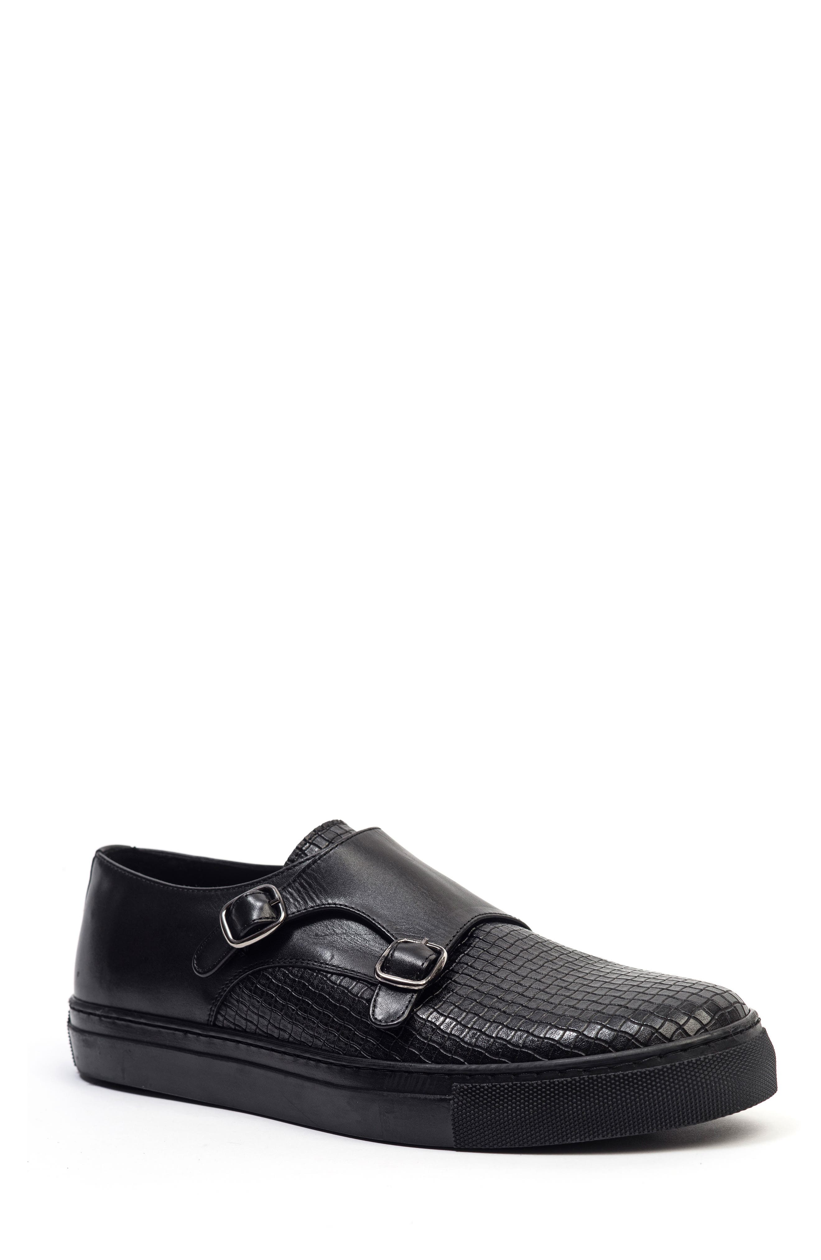Embossed Monk Strap Sneaker,                         Main,                         color,