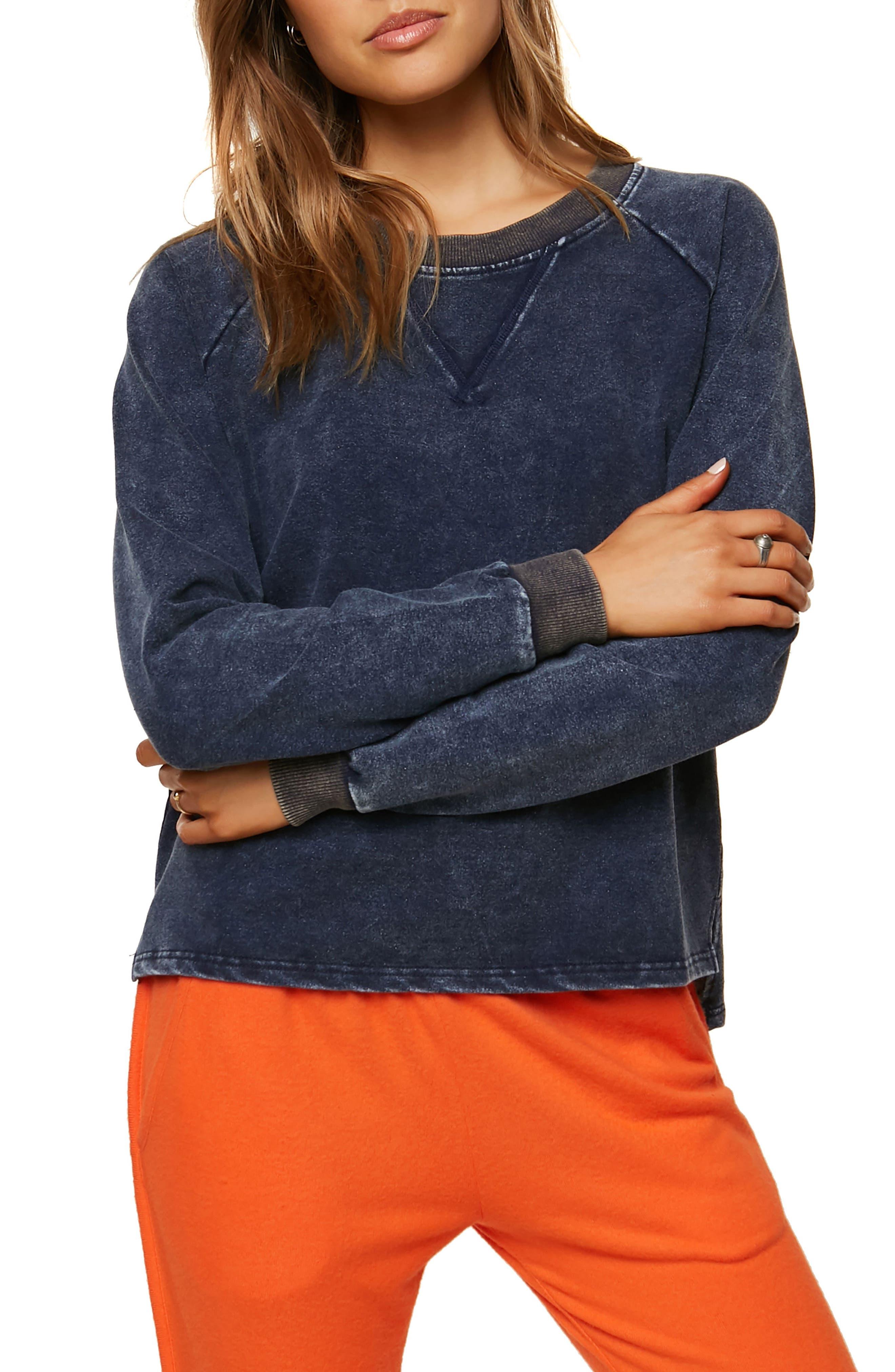Tawny Fleece Sweatshirt,                             Main thumbnail 1, color,