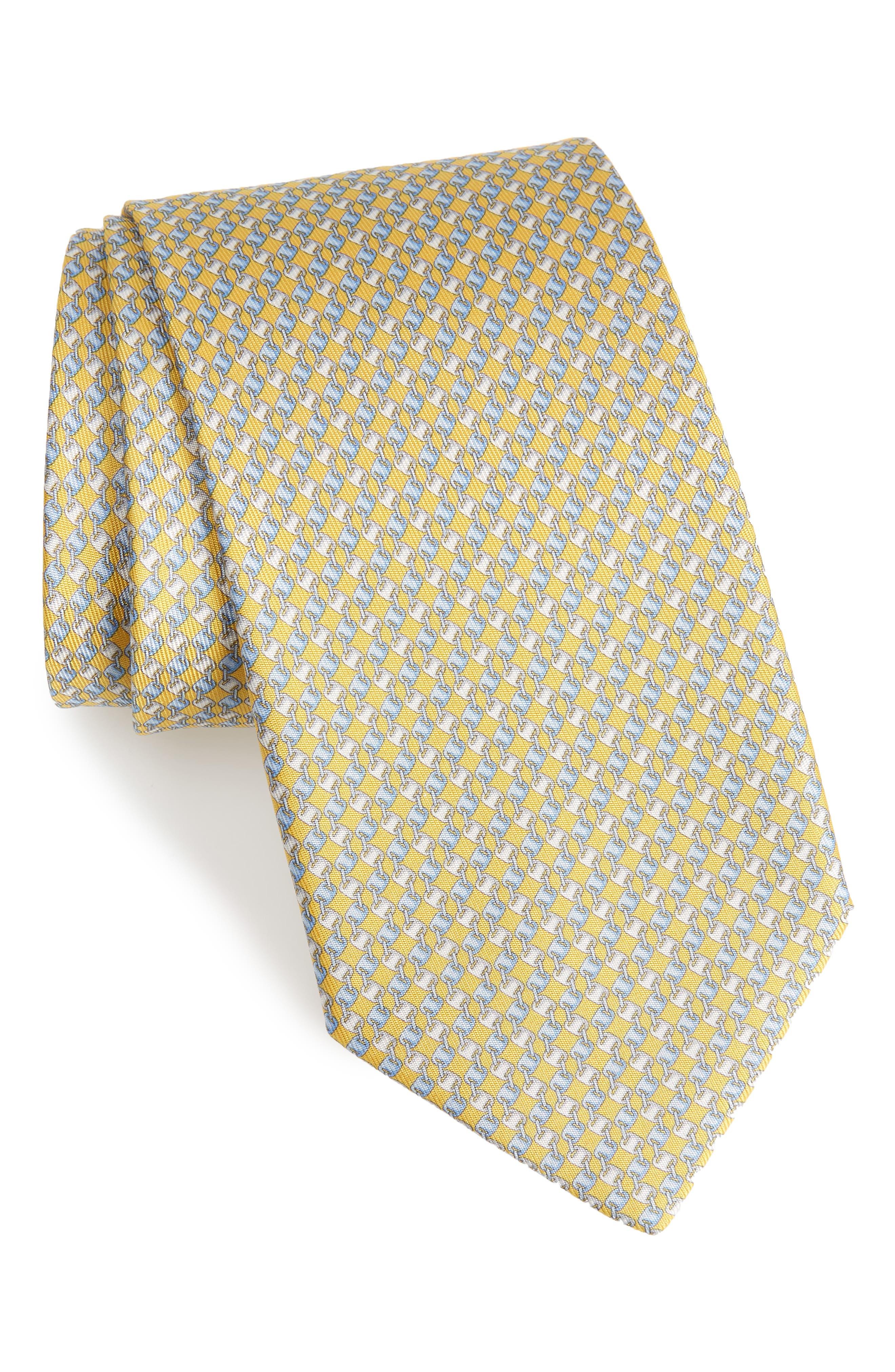Oara Print Silk Tie,                             Main thumbnail 3, color,