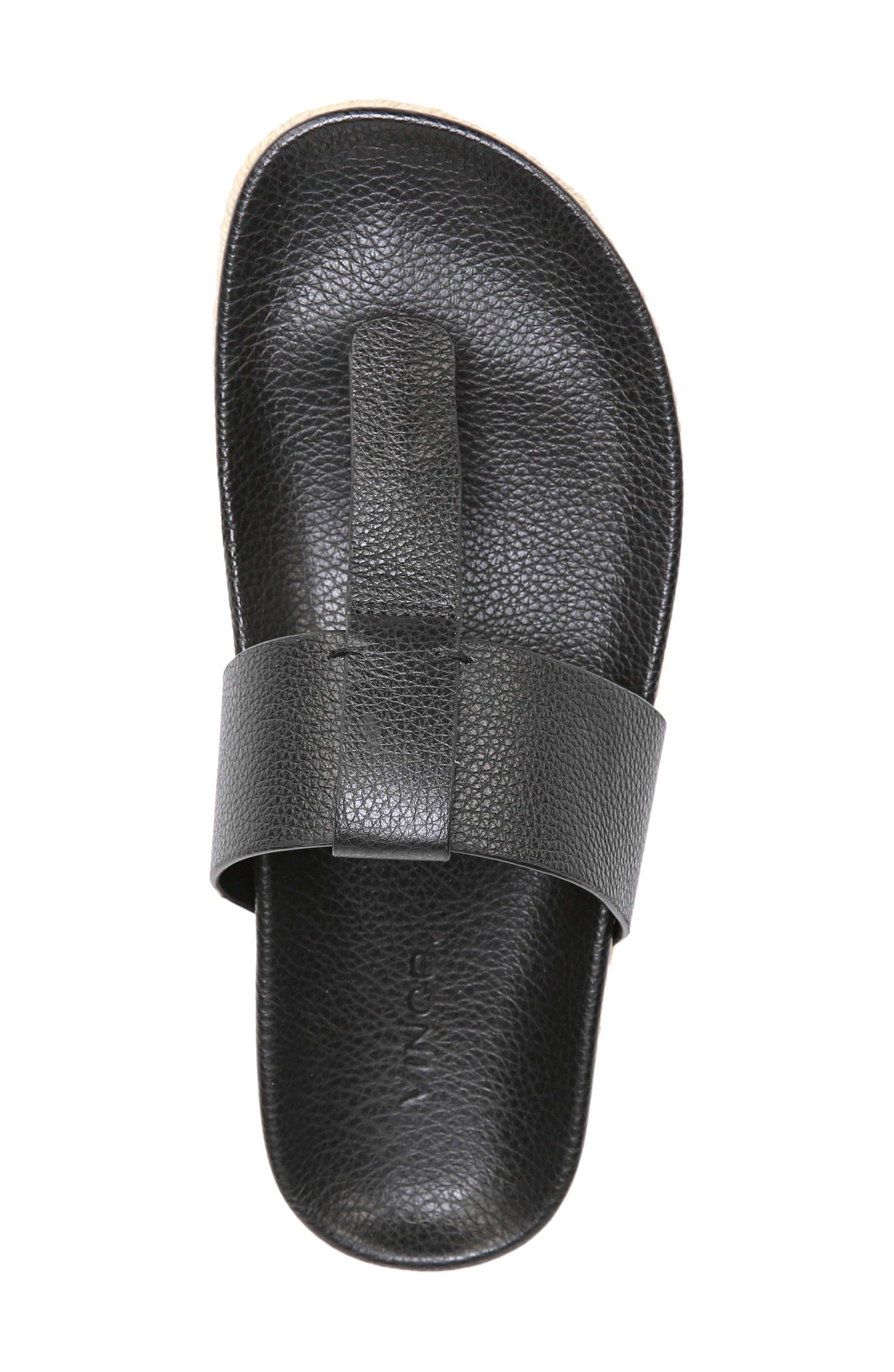 Avani T-Strap Flat Sandal,                             Alternate thumbnail 5, color,                             001