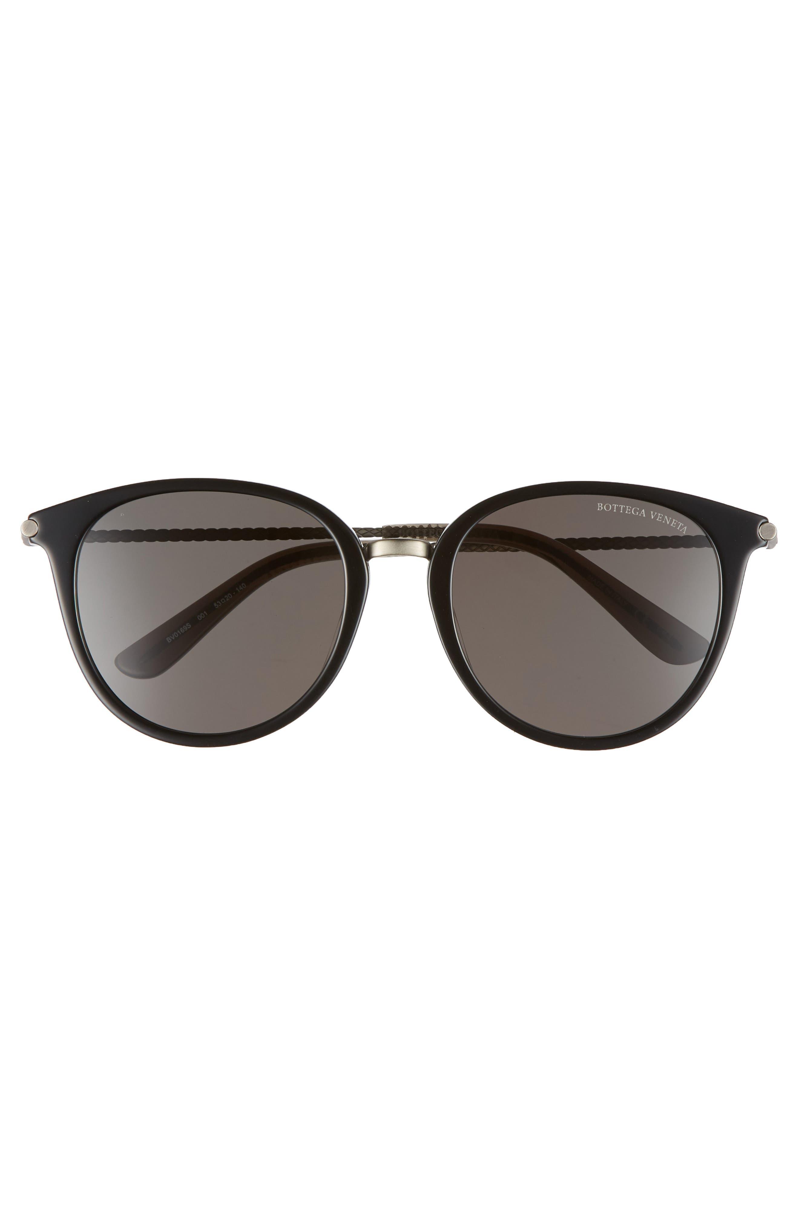 53mm Sunglasses,                             Alternate thumbnail 3, color,                             GREY/ SILVER