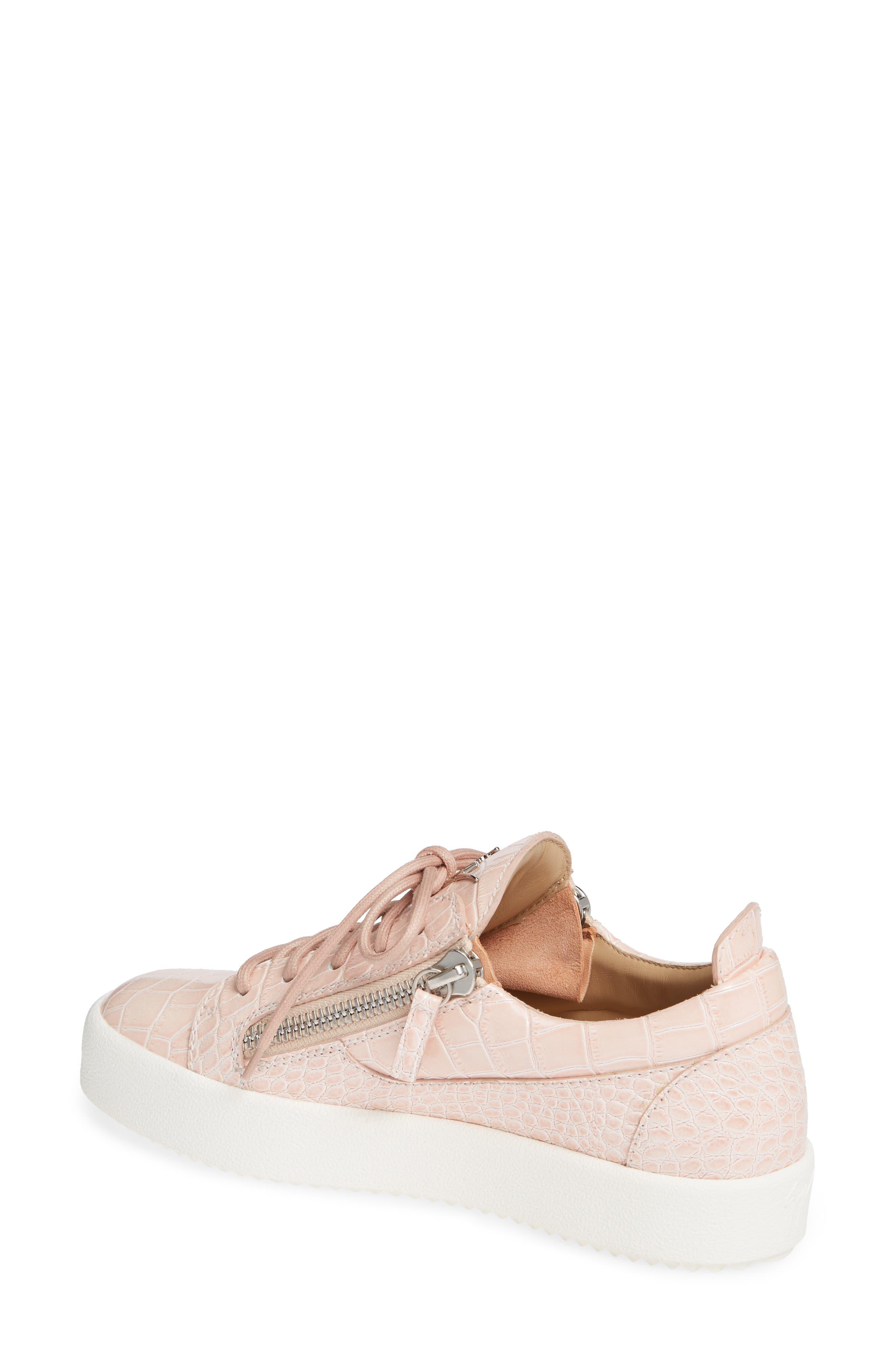 Low Top Sneaker,                             Alternate thumbnail 2, color,                             NUDE PINK