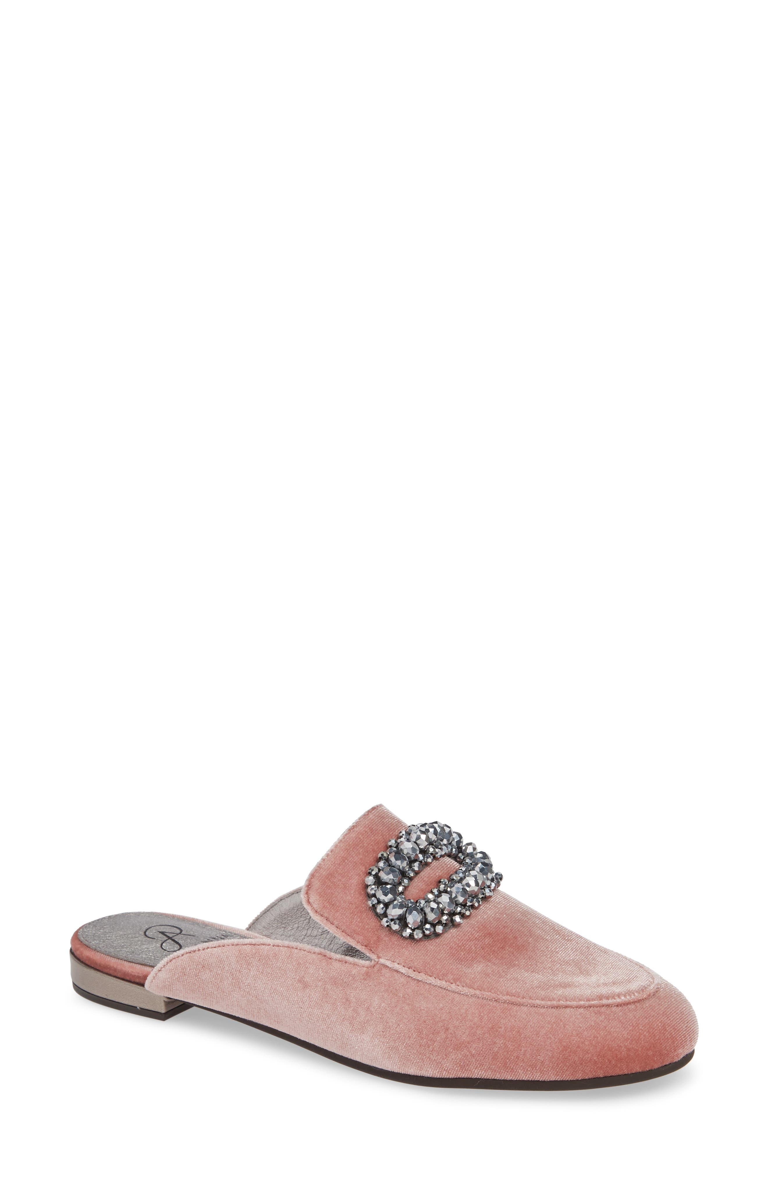 Adrianna Papell Becky Embellished Mule- Pink