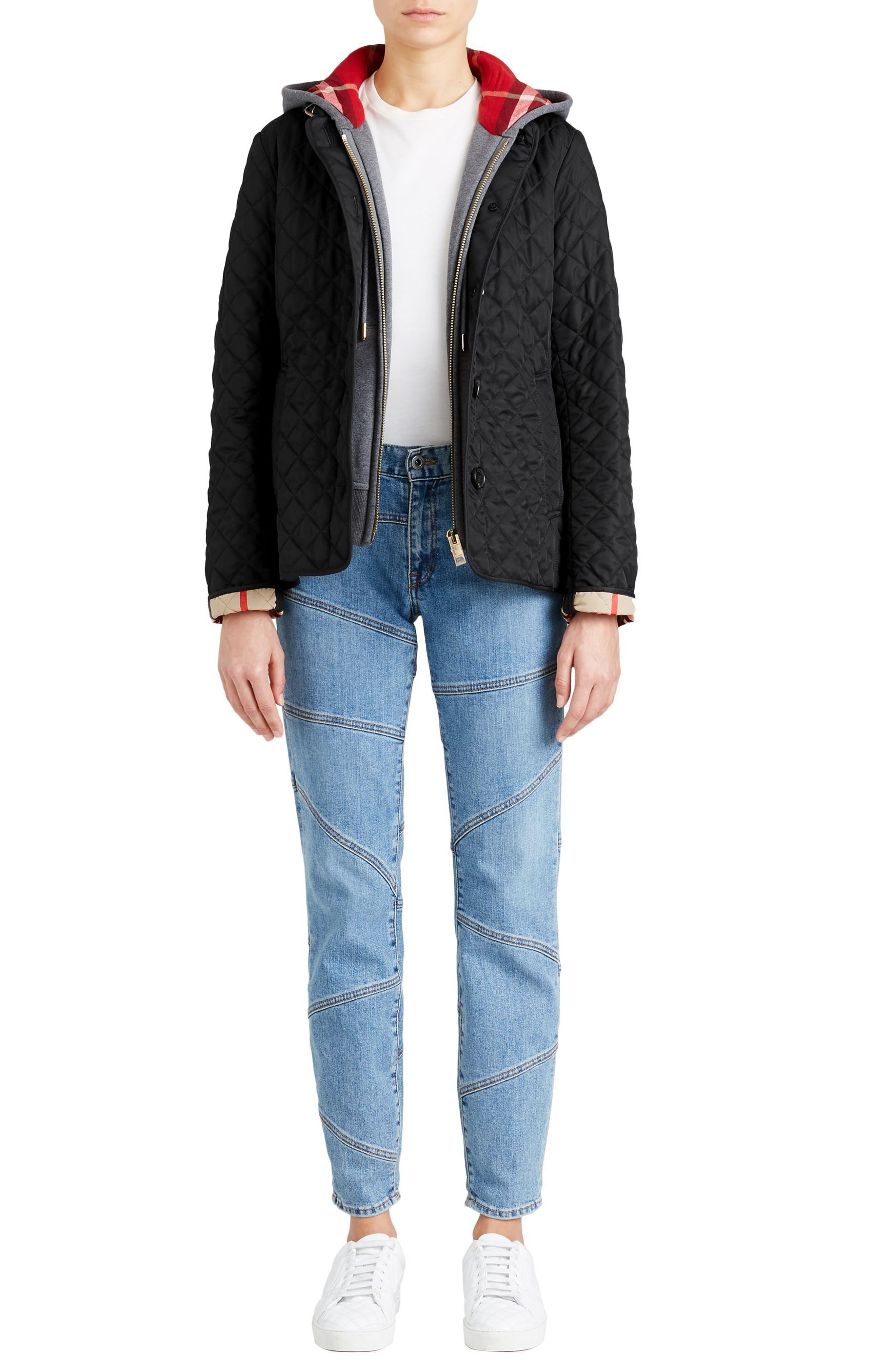 Ashurst Quilted Jacket,                             Alternate thumbnail 12, color,                             BLACK
