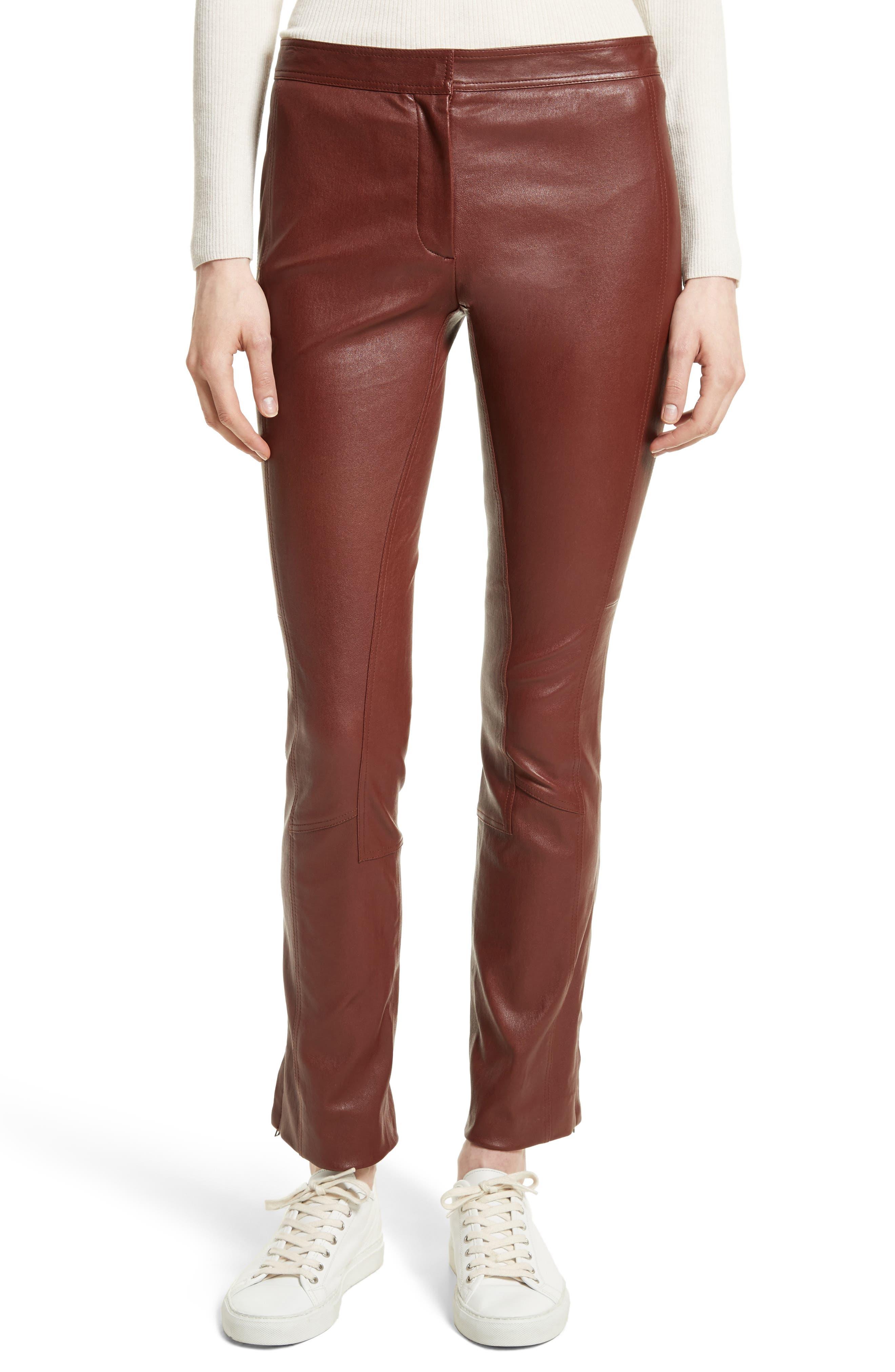 Bristol Leather Riding Pants,                             Main thumbnail 1, color,                             215