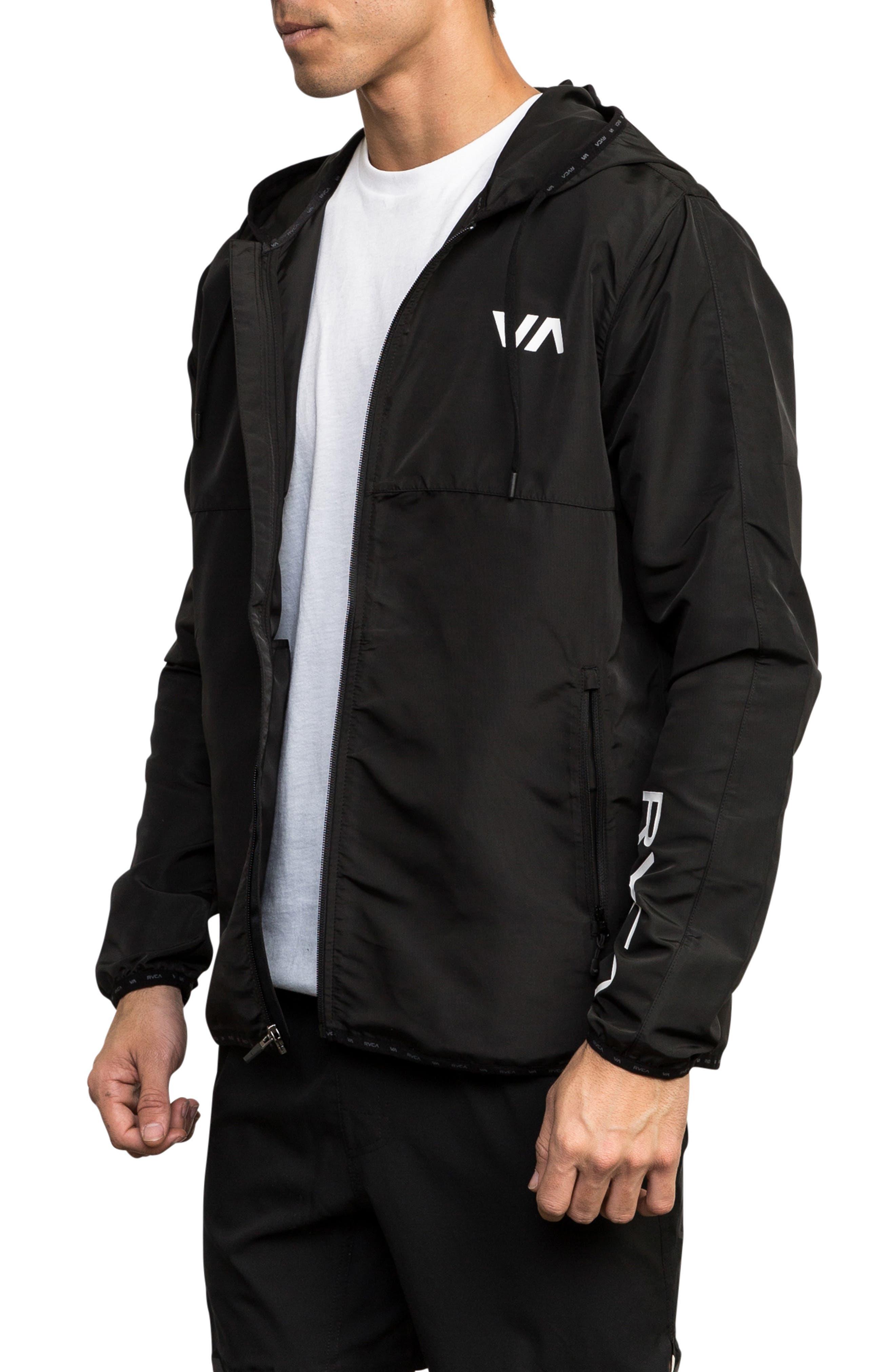 Axe Packable Water Resistant Jacket,                             Alternate thumbnail 3, color,                             BLACK