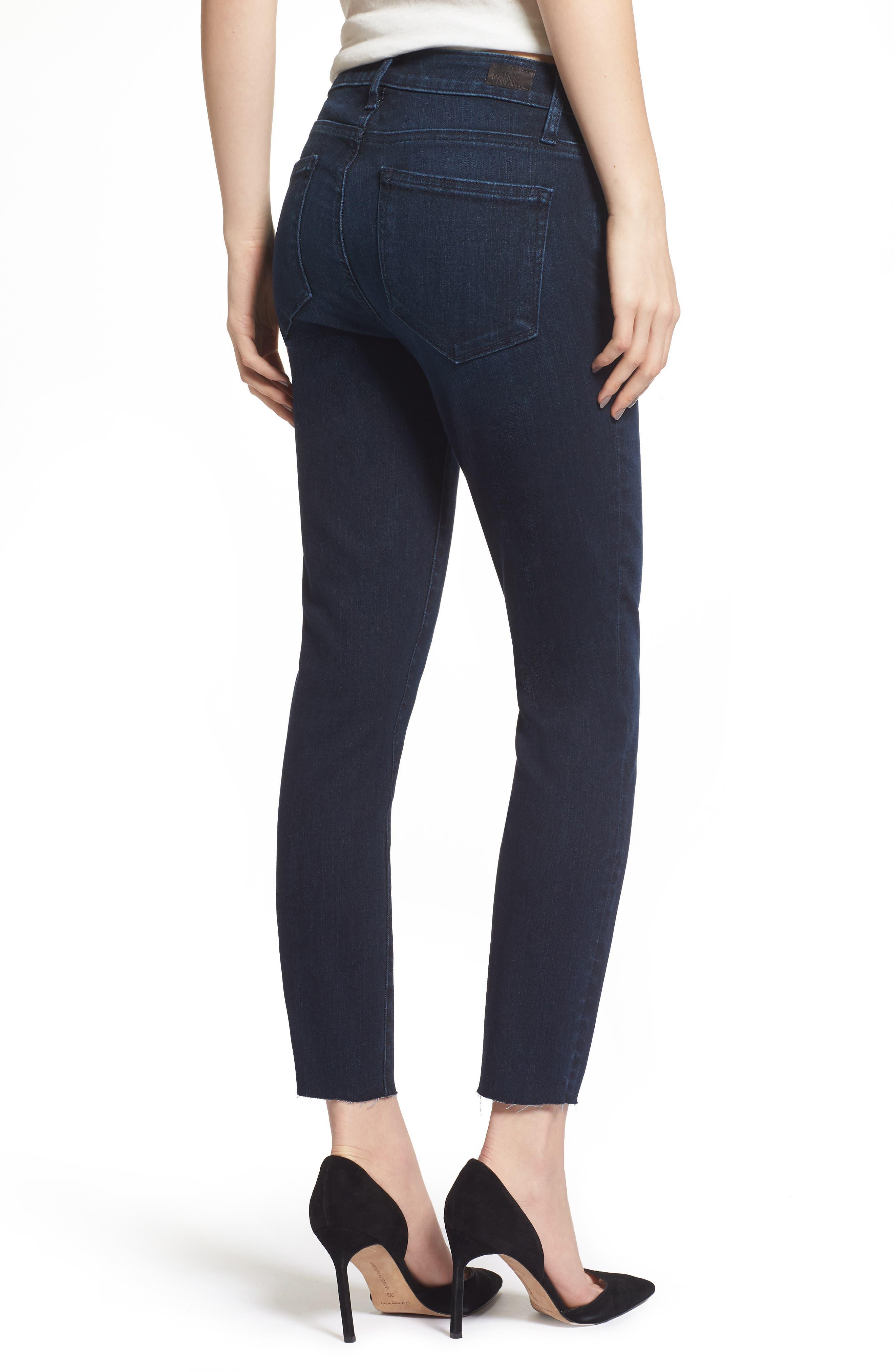 Transcend Vintage - Skyline Crop Skinny Jeans,                             Alternate thumbnail 2, color,                             LUELLA
