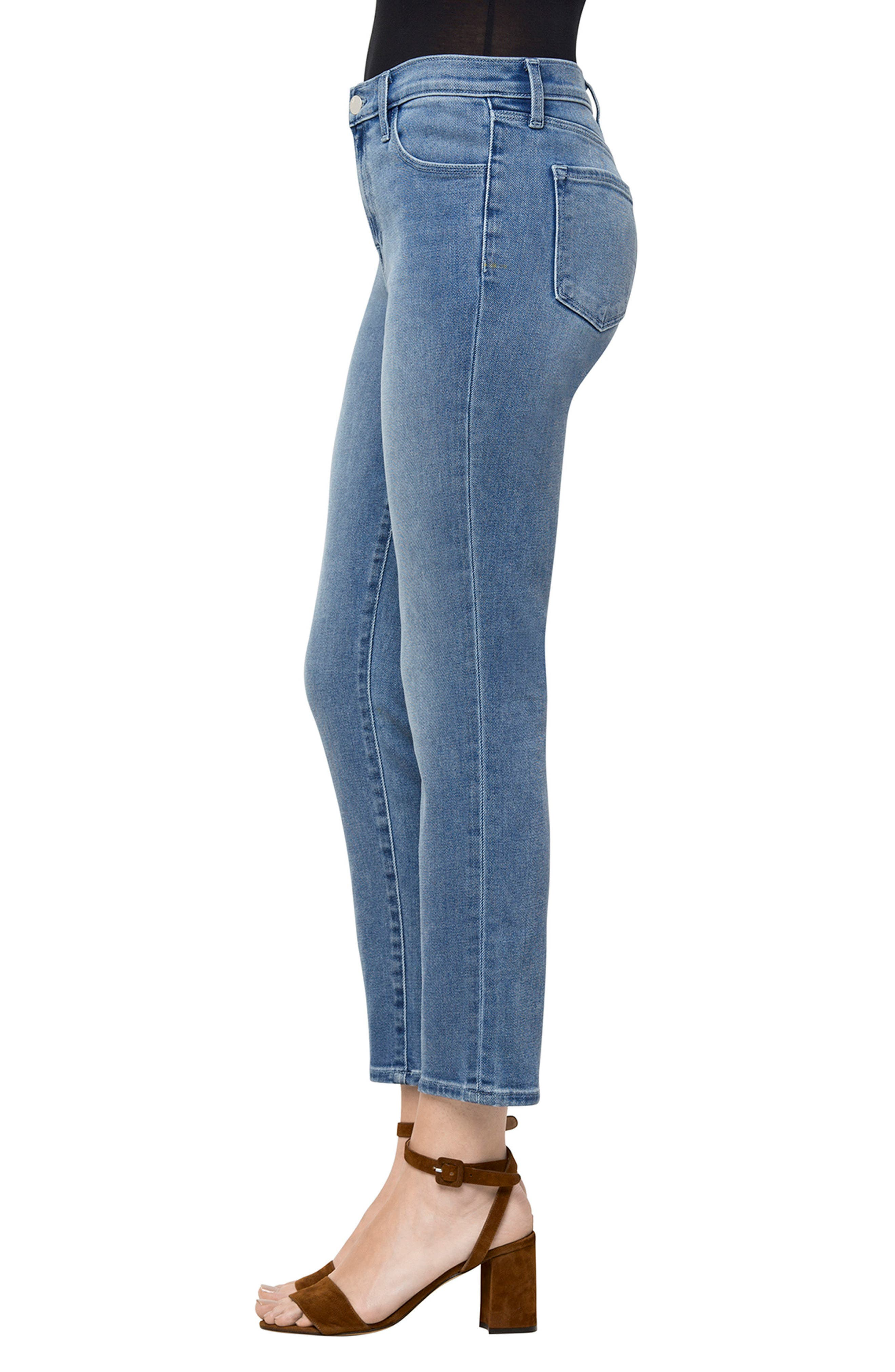 Ruby High Waist Crop Jeans,                             Alternate thumbnail 3, color,                             455