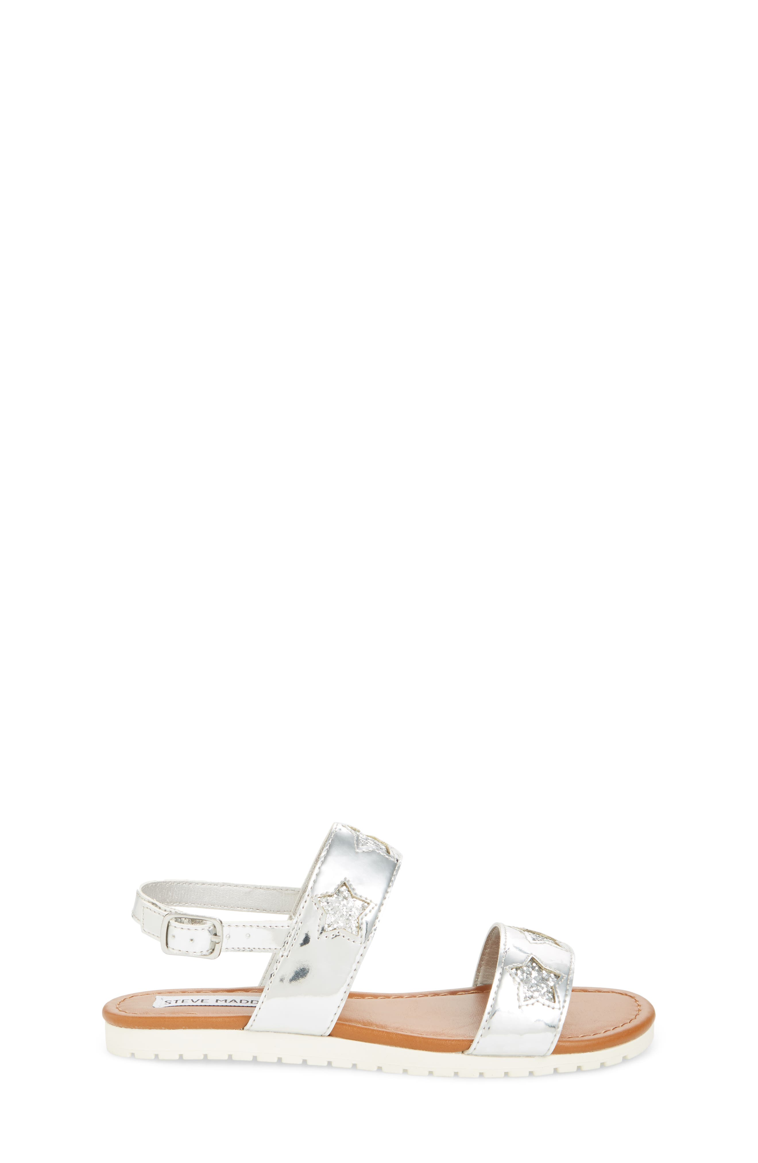 Adventure Glitter Sandal,                             Alternate thumbnail 3, color,                             SILVER