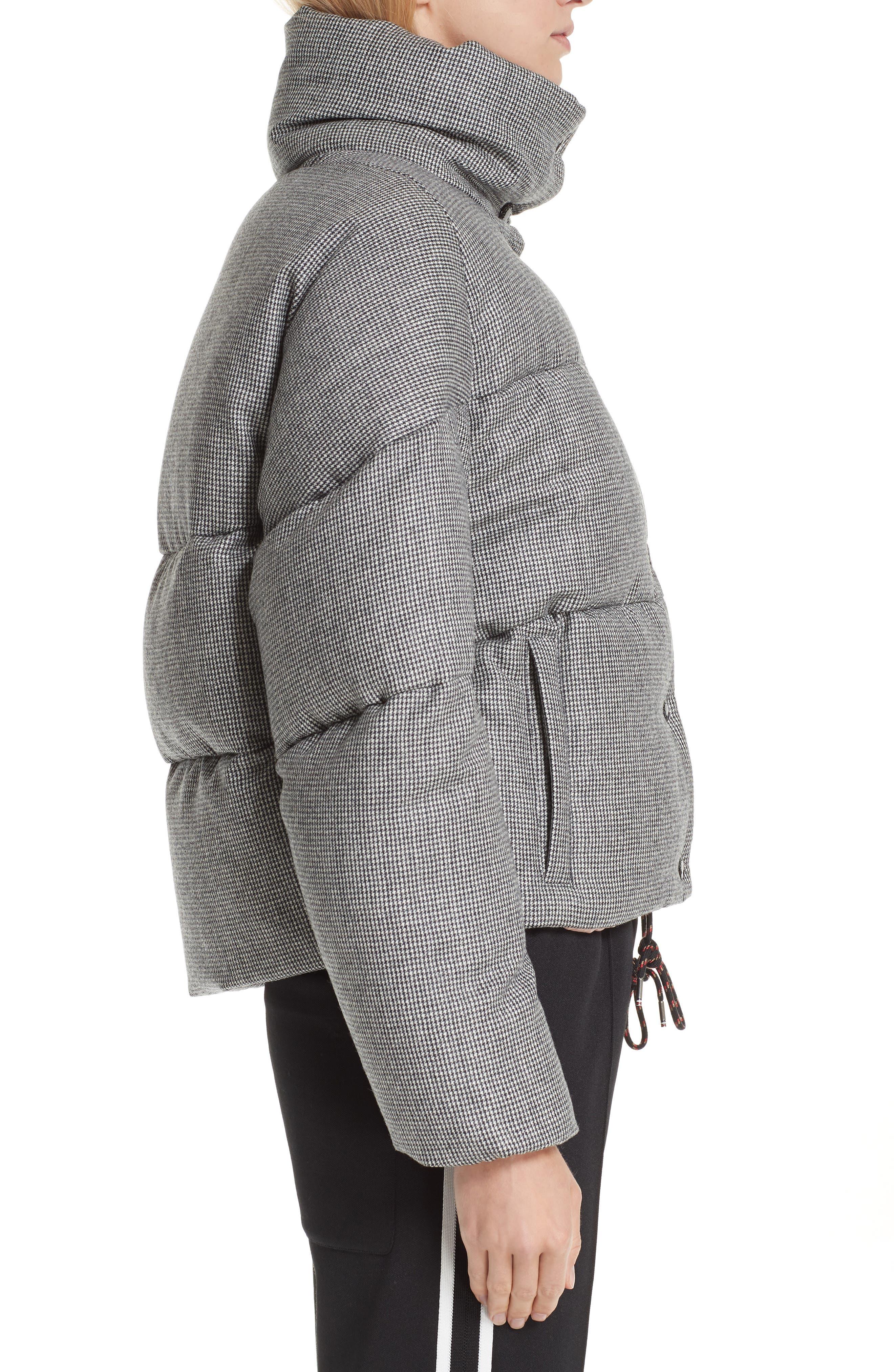 MONCLER,                             Cer Wool Down Puffer Jacket,                             Alternate thumbnail 3, color,                             BLACK