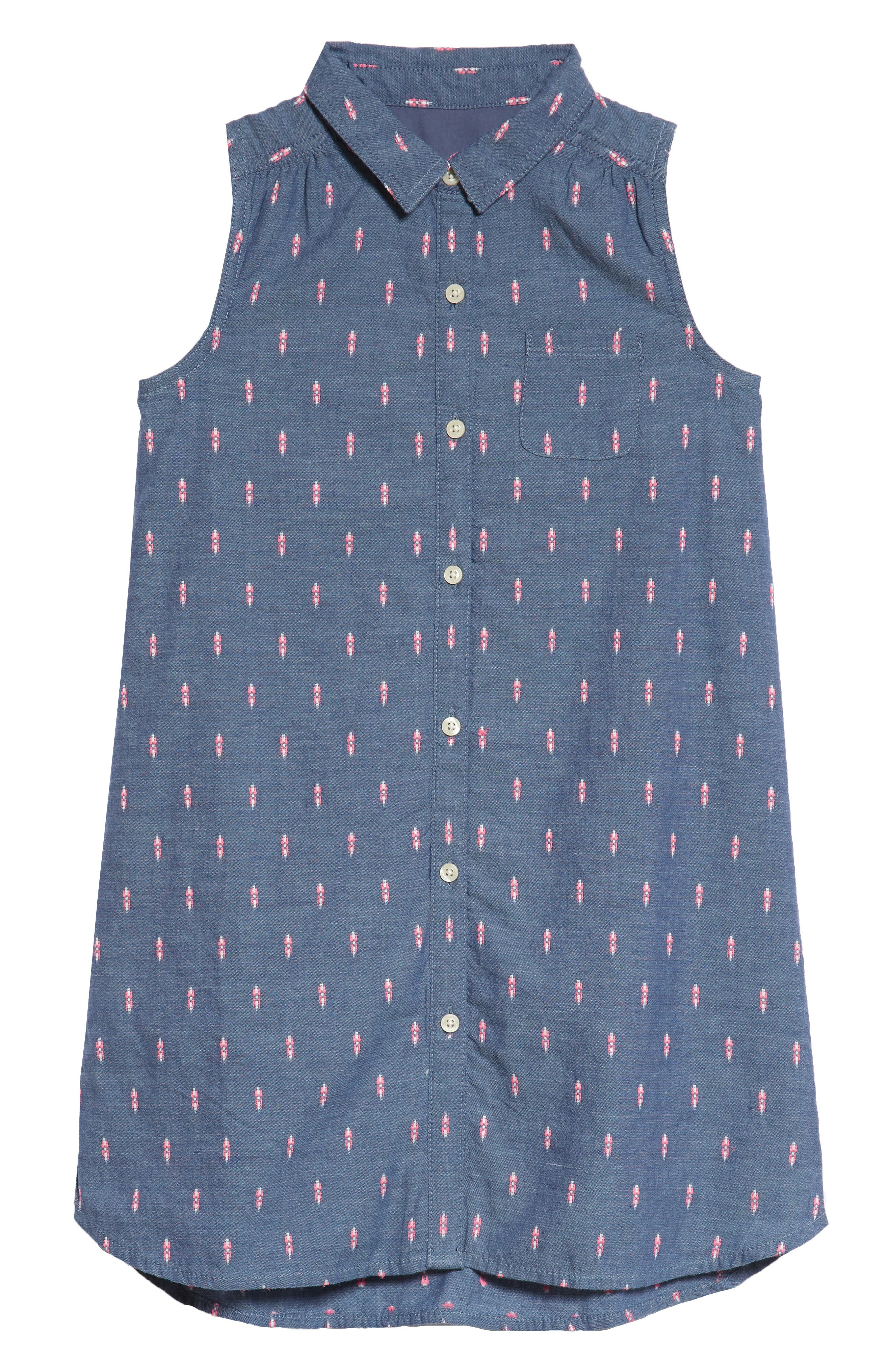 Sleeveless Shirtdress,                         Main,                         color, 420