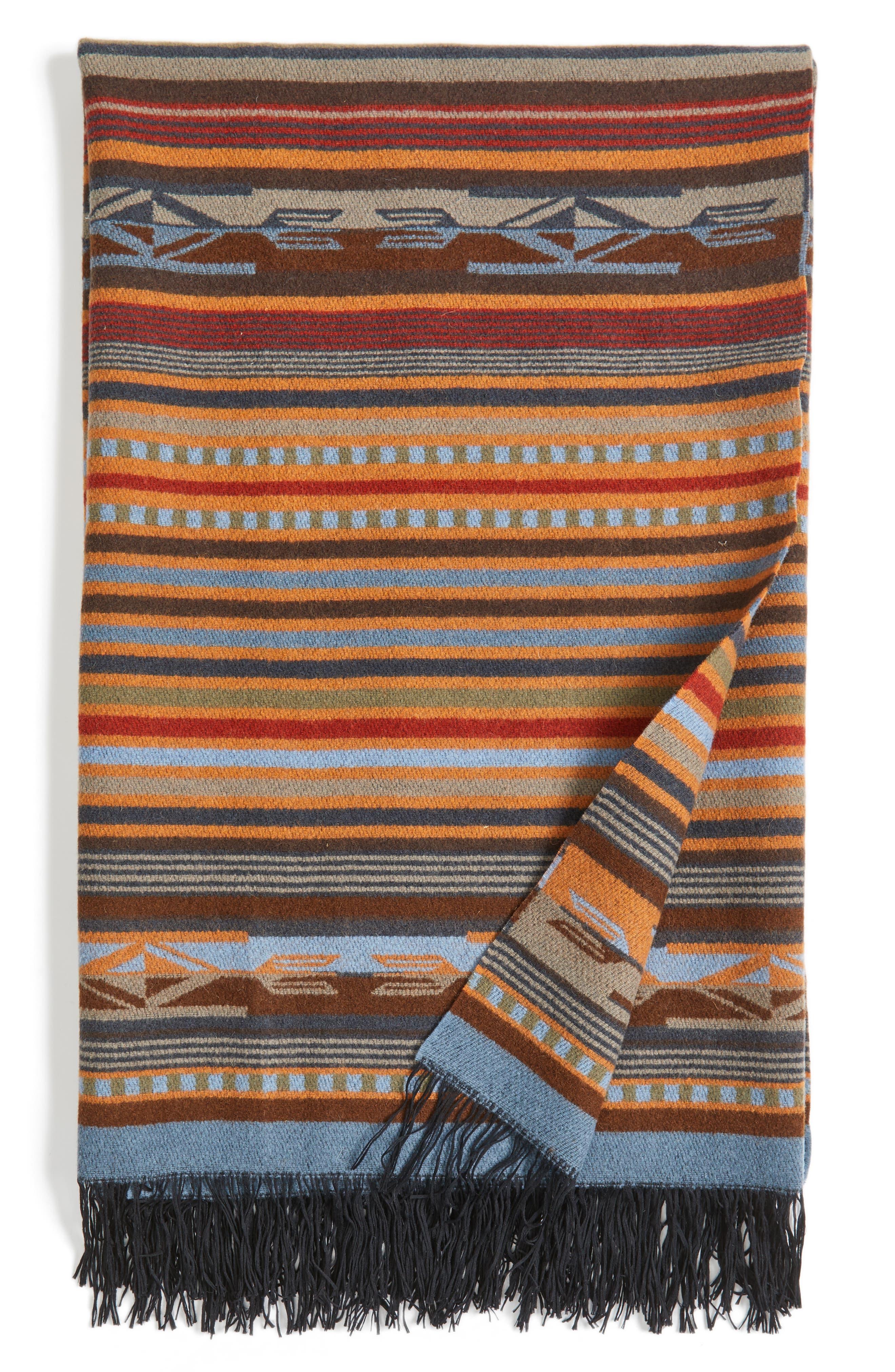 'Chimayo' Fringe Wool Throw,                             Main thumbnail 1, color,                             200
