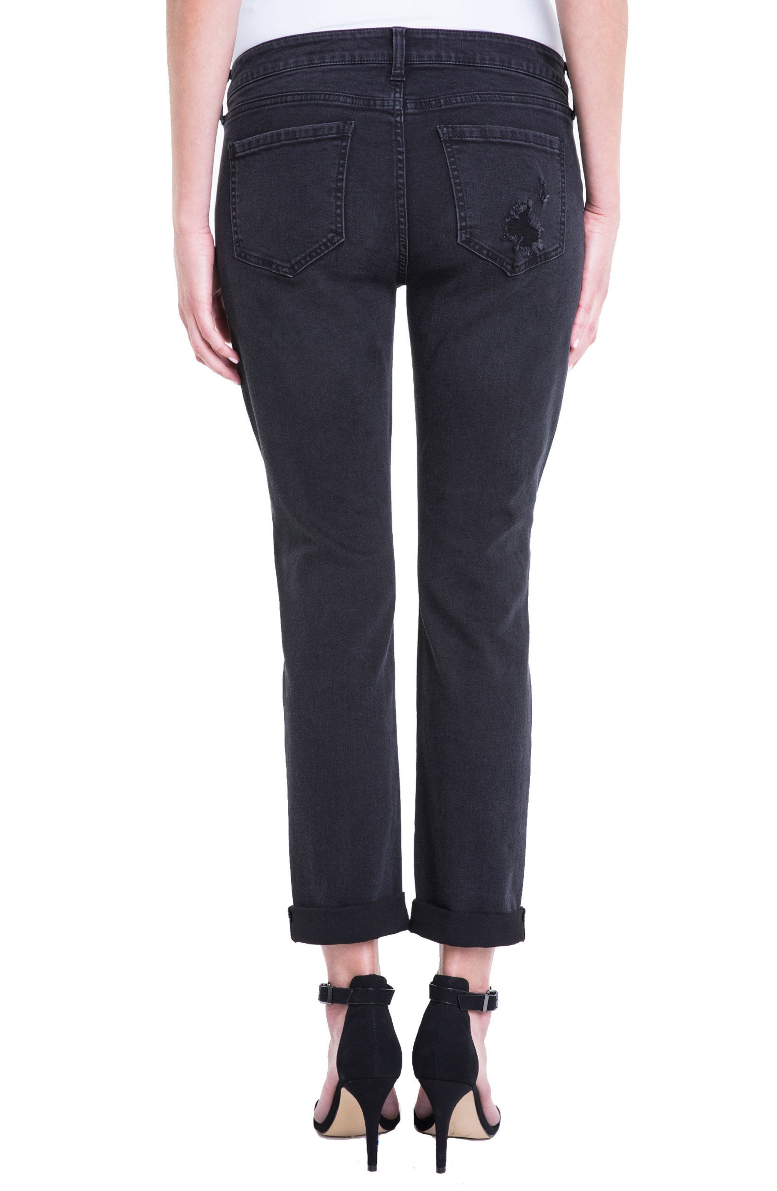 Peyton Slim Stretch Crop Boyfriend Jeans,                             Alternate thumbnail 2, color,                             024
