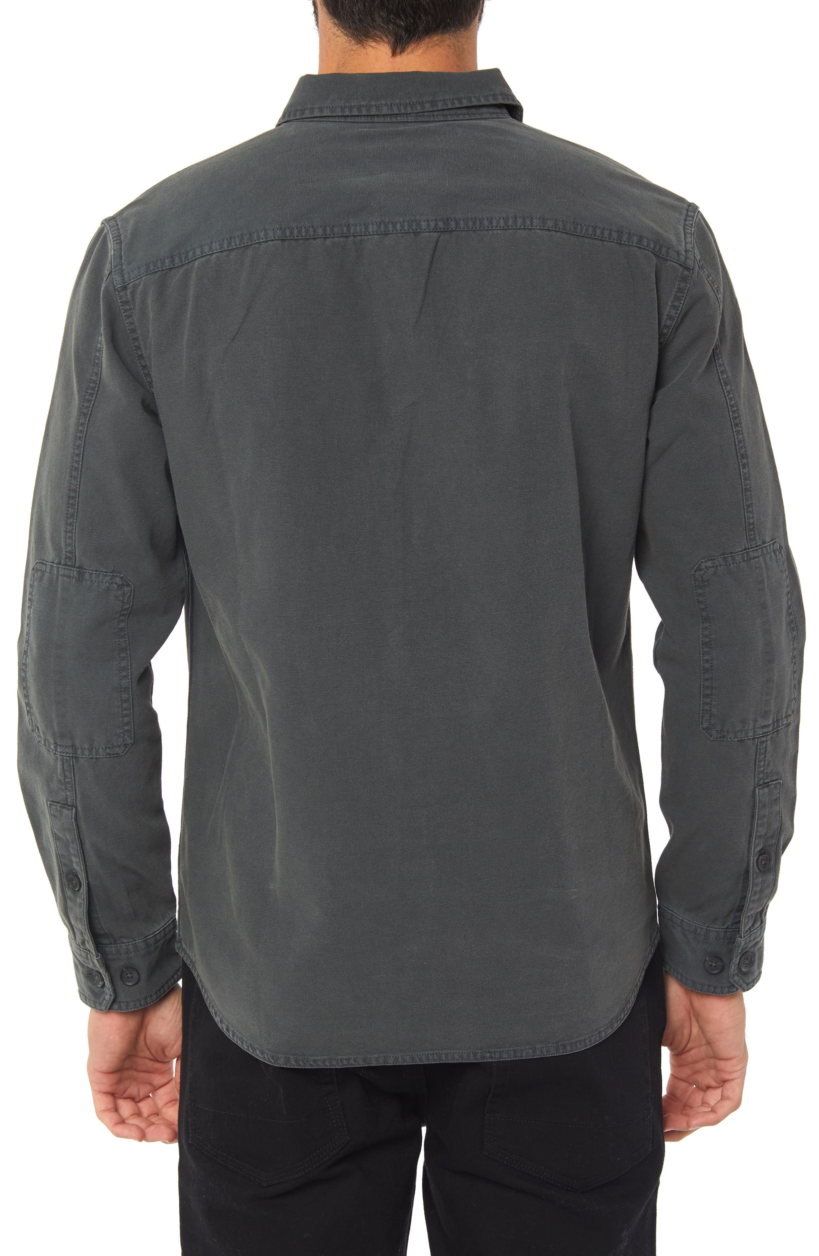 Seasons Long Sleeve Sport Shirt,                             Alternate thumbnail 2, color,                             ASPHALT
