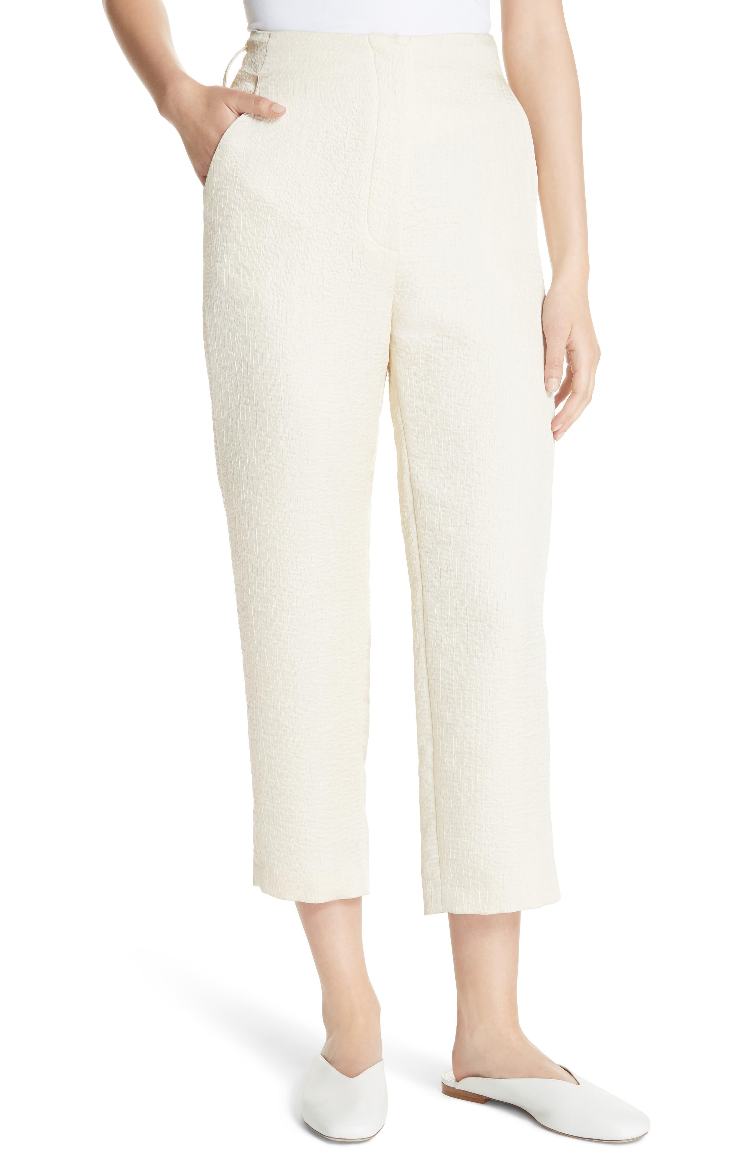 Raimo Belt Bag Crop Pants,                             Alternate thumbnail 4, color,                             CREME